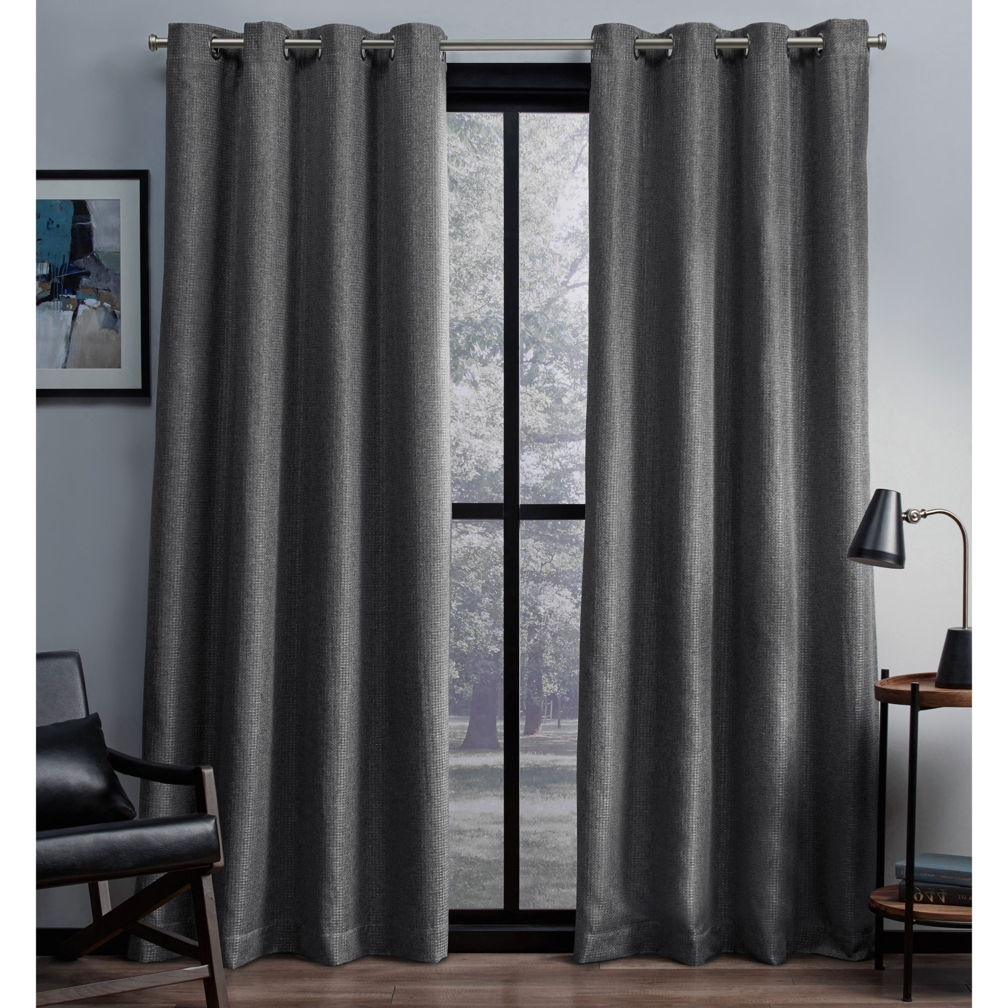 Thermal Woven Blackout Grommet Top Curtain Panel Pairs Pertaining To Most Current Ati Home Eglinton Woven Blackout Grommet Top Curtain Panel (View 15 of 20)