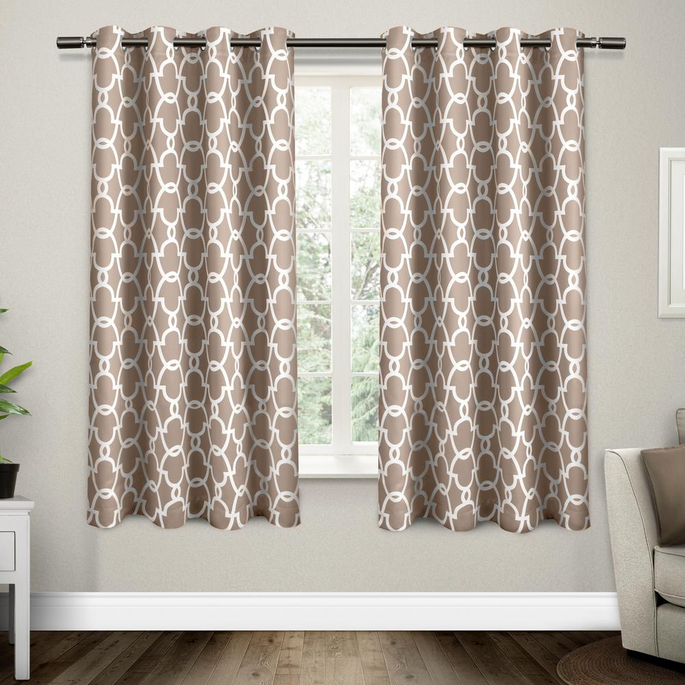 Thermal Woven Blackout Grommet Top Curtain Panel Pairs Within Most Recently Released Gates 52 In. W X 63 In (View 19 of 20)