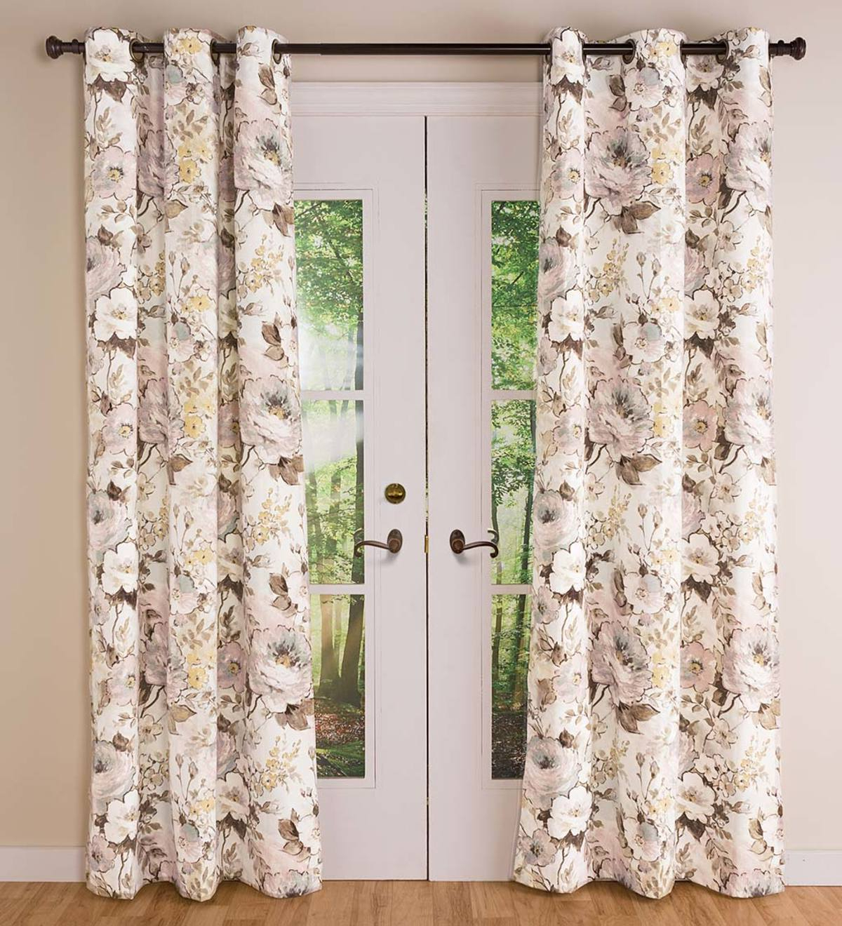 Thermalogic Insulated Bella Donna Floral Grommet Top Curtain Pairs In Current Insulated Cotton Curtain Panel Pairs (View 18 of 20)