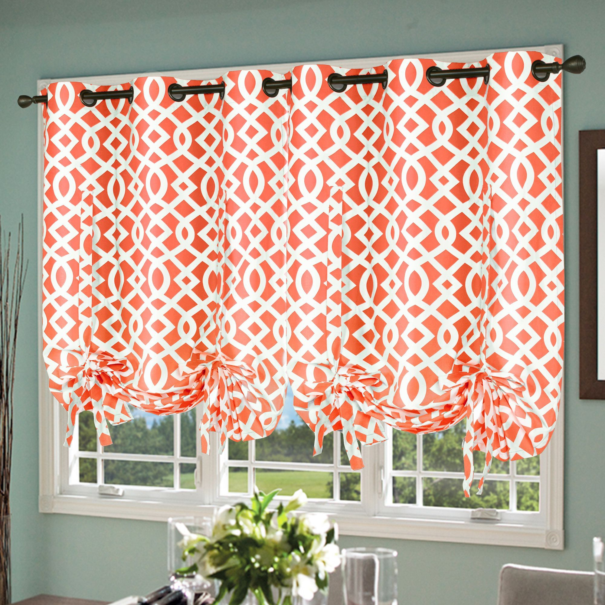 Thermalogic Trellis Tie Up Curtain Single Panel & Reviews In Fashionable Prescott Insulated Tie Up Window Shade (View 13 of 20)