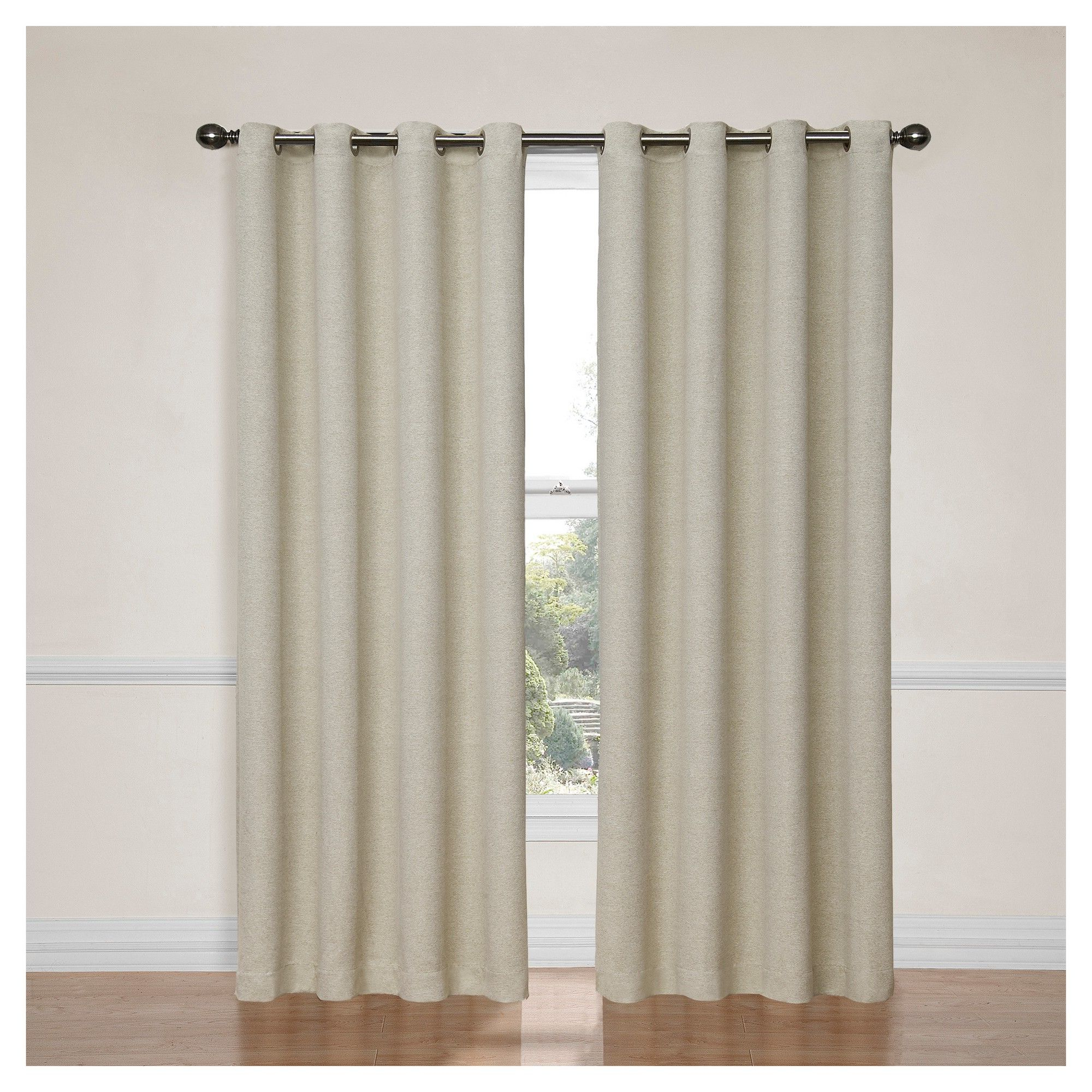 "Thermaweave Blackout Curtains Regarding Preferred Bobbi Thermaweave Blackout Curtain Ivory (52""x84"") – Eclipse (View 14 of 20)"