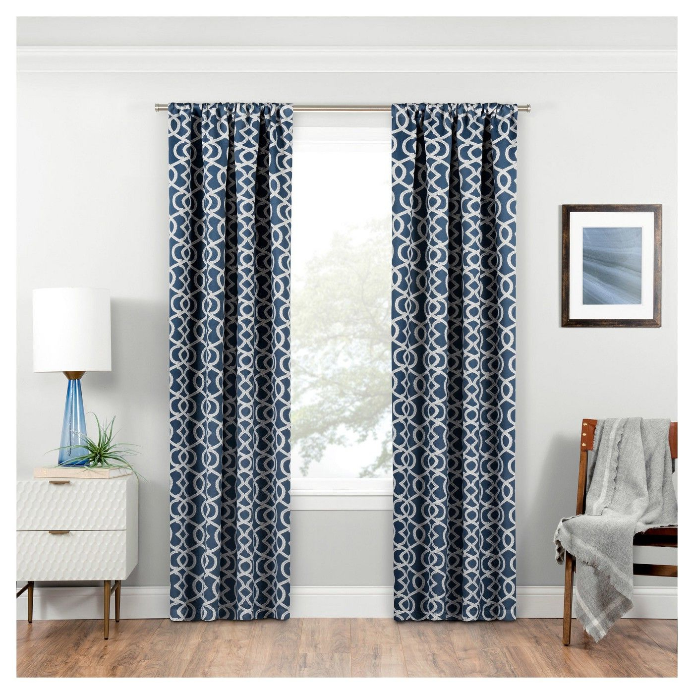 Thermaweave Blackout Curtains Within Trendy Isante Trellis Thermaweave Blackout Curtain – Eclipse (View 17 of 20)