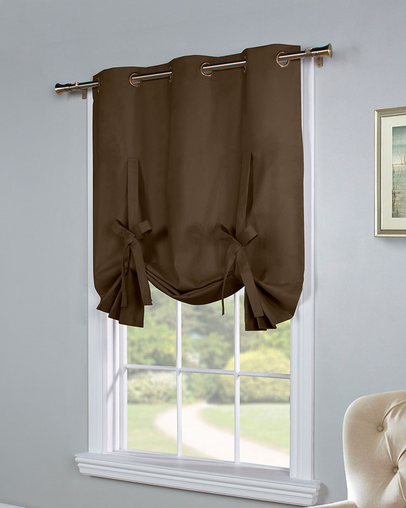 Tie Up Curtain – Curtain Decorating Ideas Intended For Well Known Prescott Insulated Tie Up Window Shade (View 4 of 20)