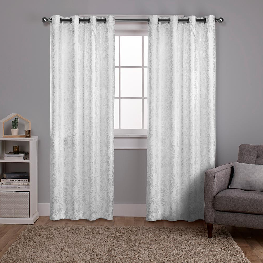 Total Blackout Metallic Print Grommet Top Curtain Panels In Popular Watford 52 In. W X 108 In (View 12 of 20)