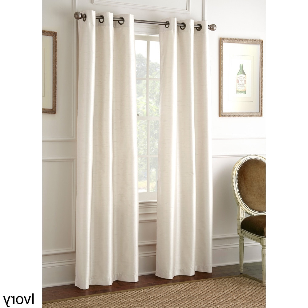 Trendy Amrapur Overseas Inc Faux Silk 84 Inch Blackout Curtain With Regard To Overseas Faux Silk Blackout Curtain Panel Pairs (View 17 of 20)