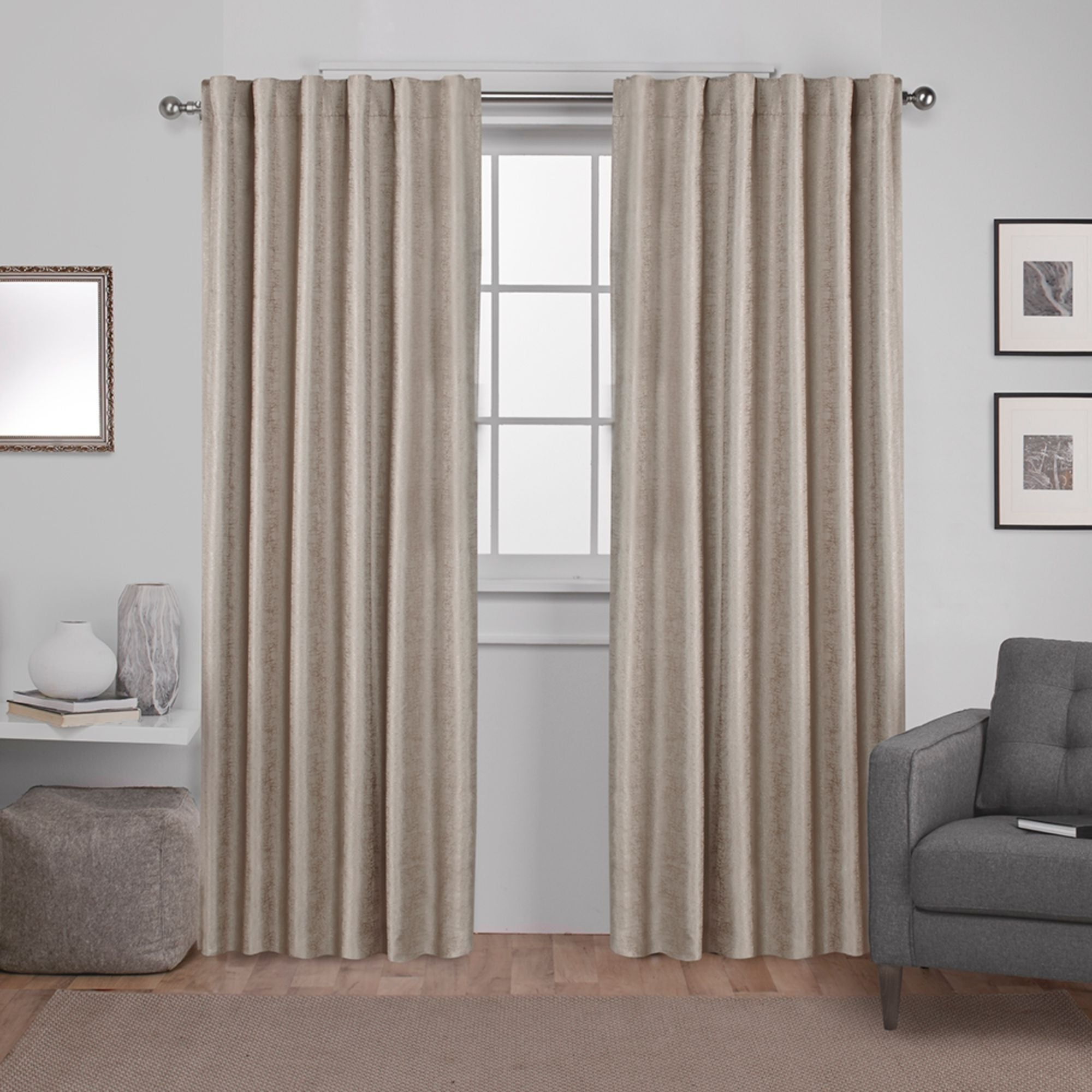 Trendy Ati Home Zeus Thermal Woven Blackout Back Tab Top Curtain Panel Pair With Cyrus Thermal Blackout Back Tab Curtain Panels (View 7 of 20)