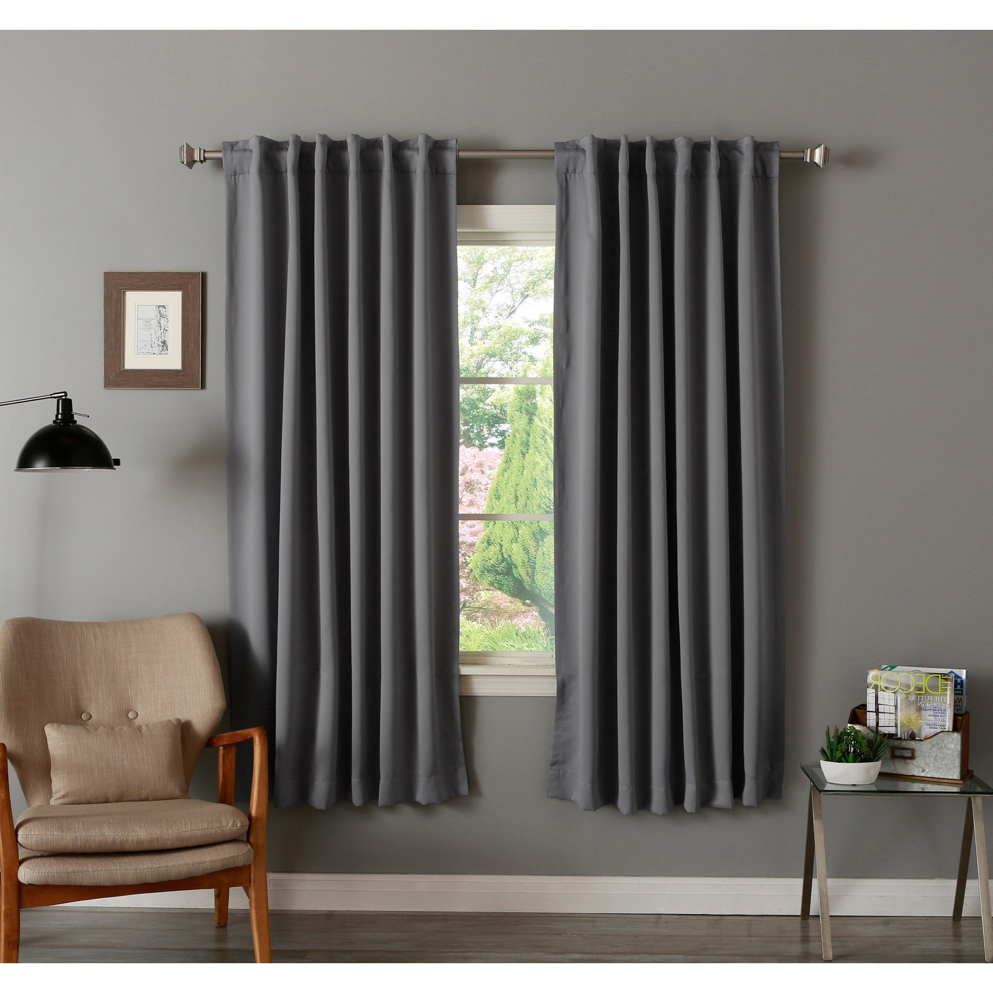Trendy Aurora Home Insulated 72 Inch Thermal Blackout Curtain Panel Pair – 52 X 72 Intended For Insulated Thermal Blackout Curtain Panel Pairs (View 7 of 20)
