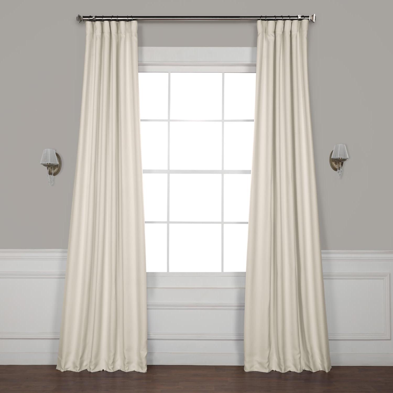 Trendy Birch Faux Linen Blackout Curtain Throughout Faux Linen Extra Wide Blackout Curtains (View 17 of 21)