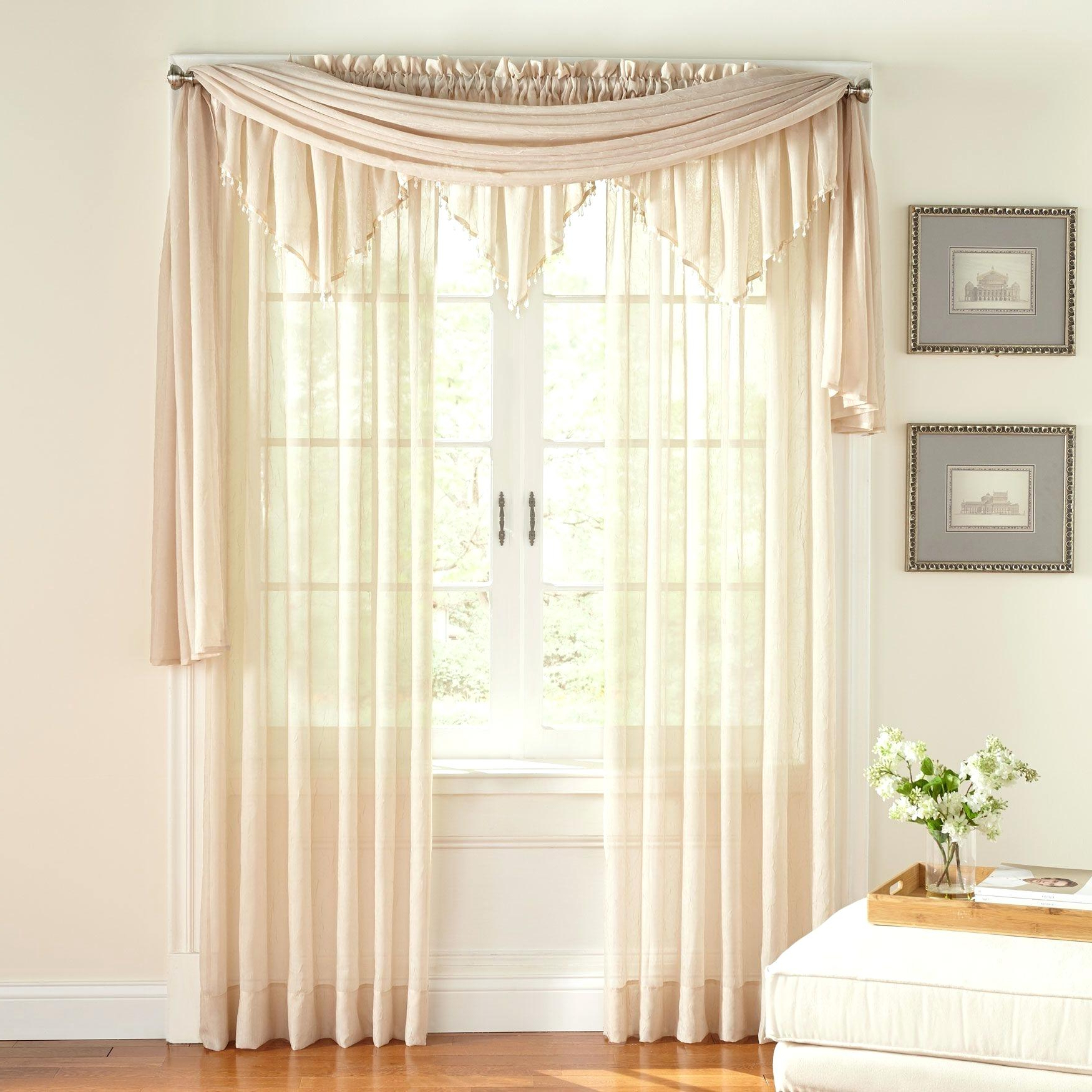 Trendy Crushed Voile Curtains – Wethepeopleoklahoma Regarding Sheer Voile Ruffled Tier Window Curtain Panels (View 16 of 20)