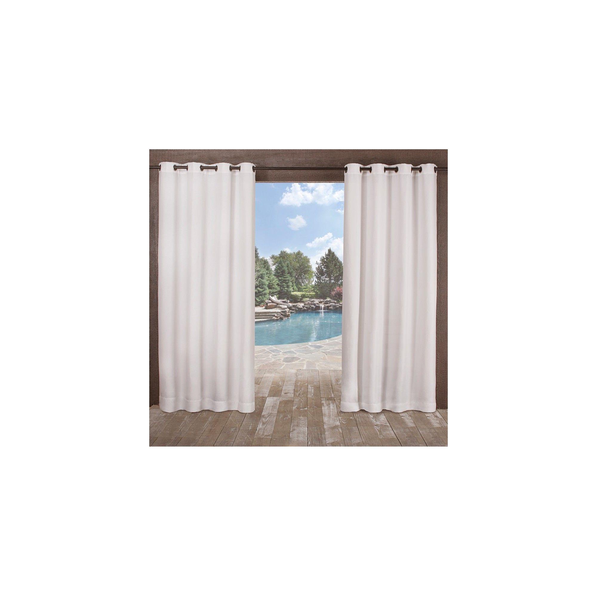 """Trendy Delano Indoor/outdoor Grommet Top Curtain Panel Pairs In 54""""x108"""" Delano Heavyweight Textured Indoor/outdoor Grommet (View 17 of 20)"""