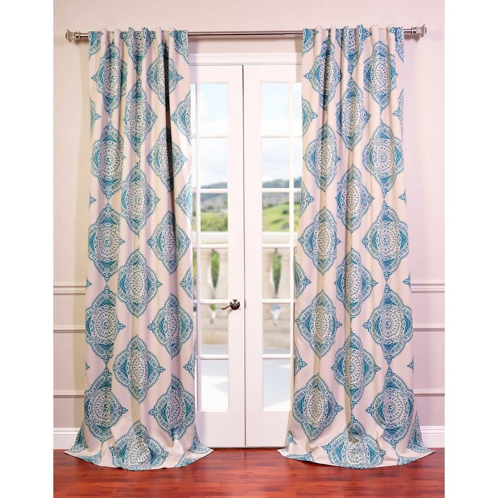Trendy Details About Moroccan Style Thermal Insulated Blackout Curtain Panel Pair In Moroccan Style Thermal Insulated Blackout Curtain Panel Pairs (View 13 of 20)