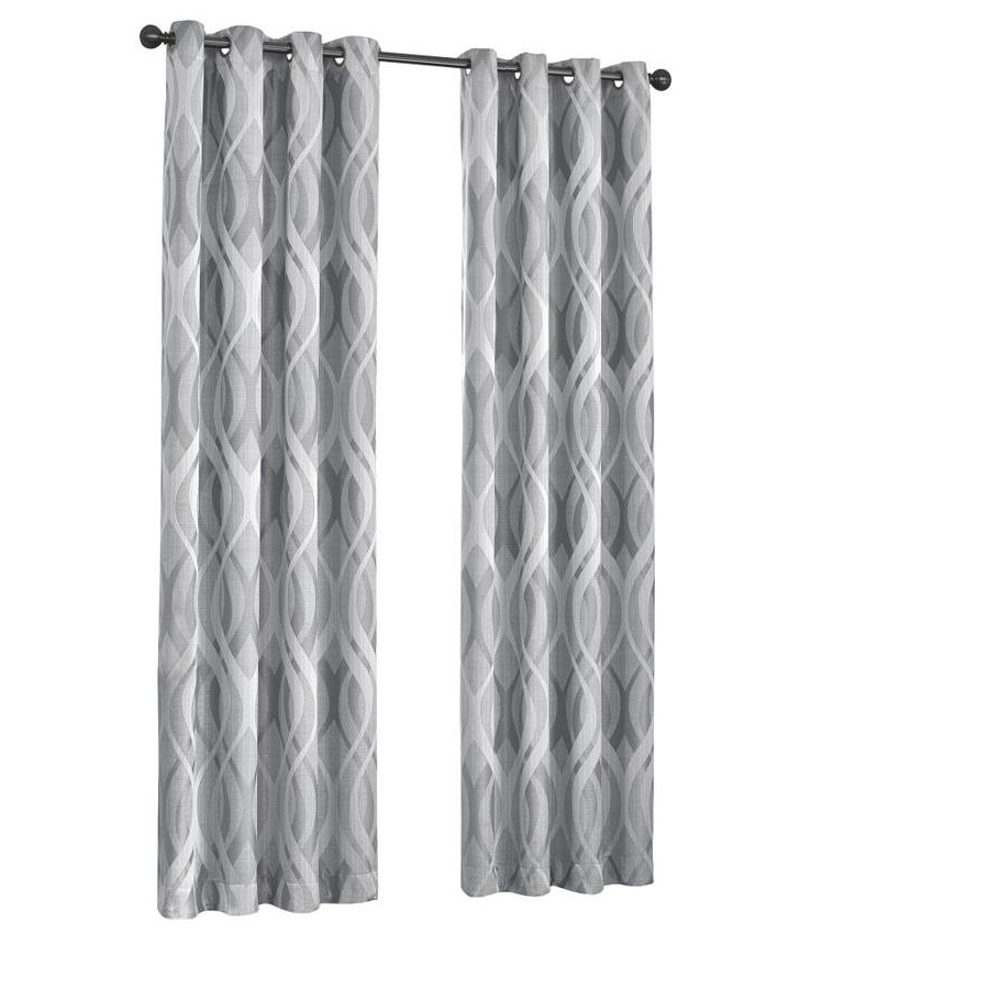 Trendy Eclipse Caprese 84 In Silver Polyester Rod Pocket Blackout With Eclipse Caprese Thermalayer Blackout Window Curtains (View 9 of 20)