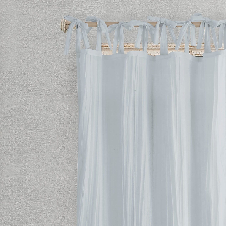 Trendy Elrene Jolie Tie Top Curtain Panel Pertaining To Elrene Jolie Tie Top Curtain Panels (View 8 of 20)
