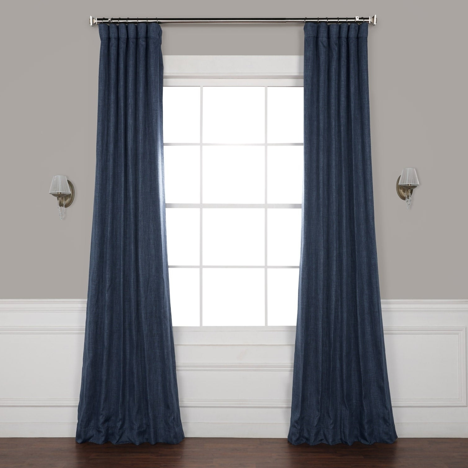 Trendy Exclusive Fabrics Faux Linen Blackout Curtain Intended For Faux Linen Extra Wide Blackout Curtains (View 19 of 21)