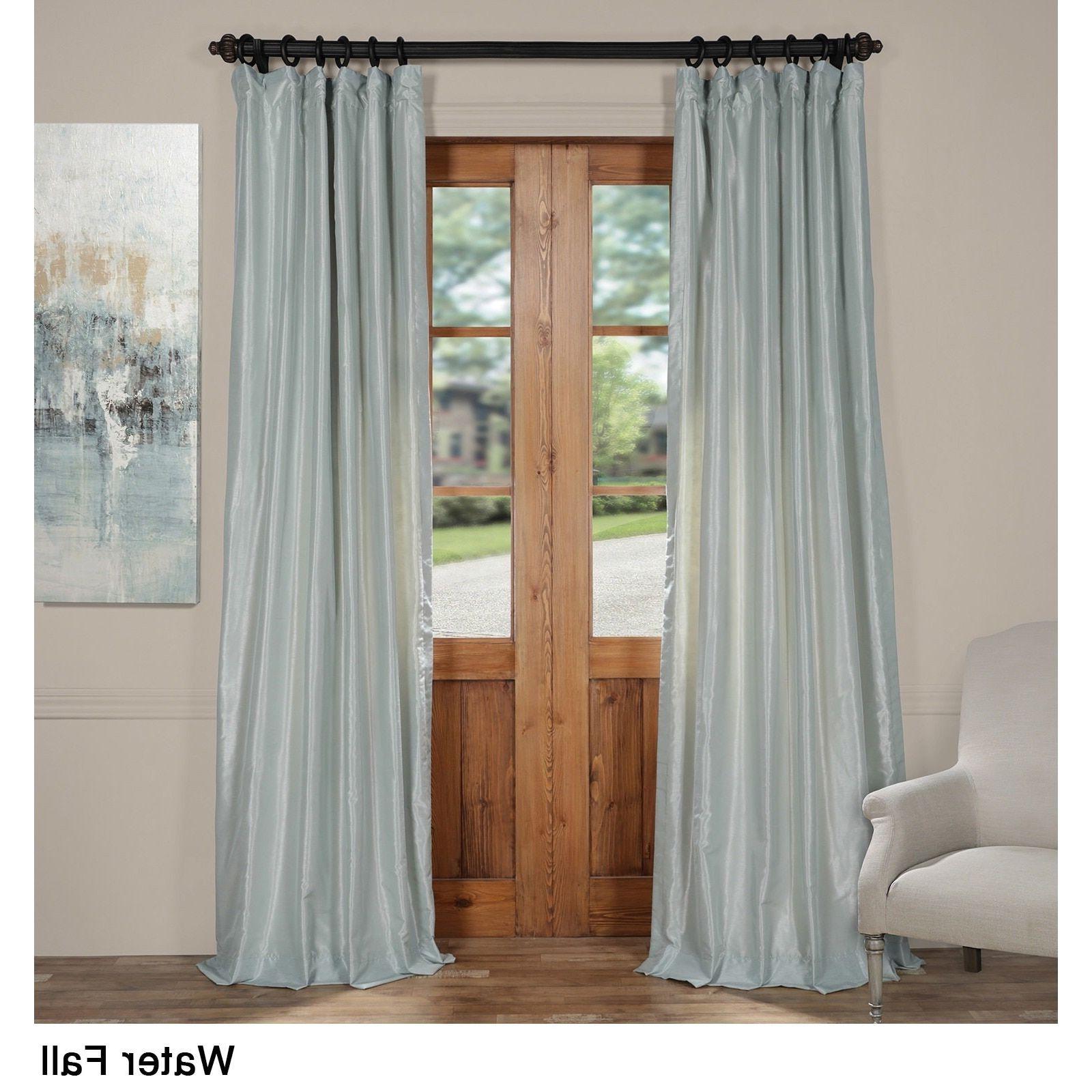 Trendy Exclusive Fabrics Vintage Textured Faux Dupioni Silk Curtain For Vintage Textured Faux Dupioni Silk Curtain Panels (View 17 of 20)
