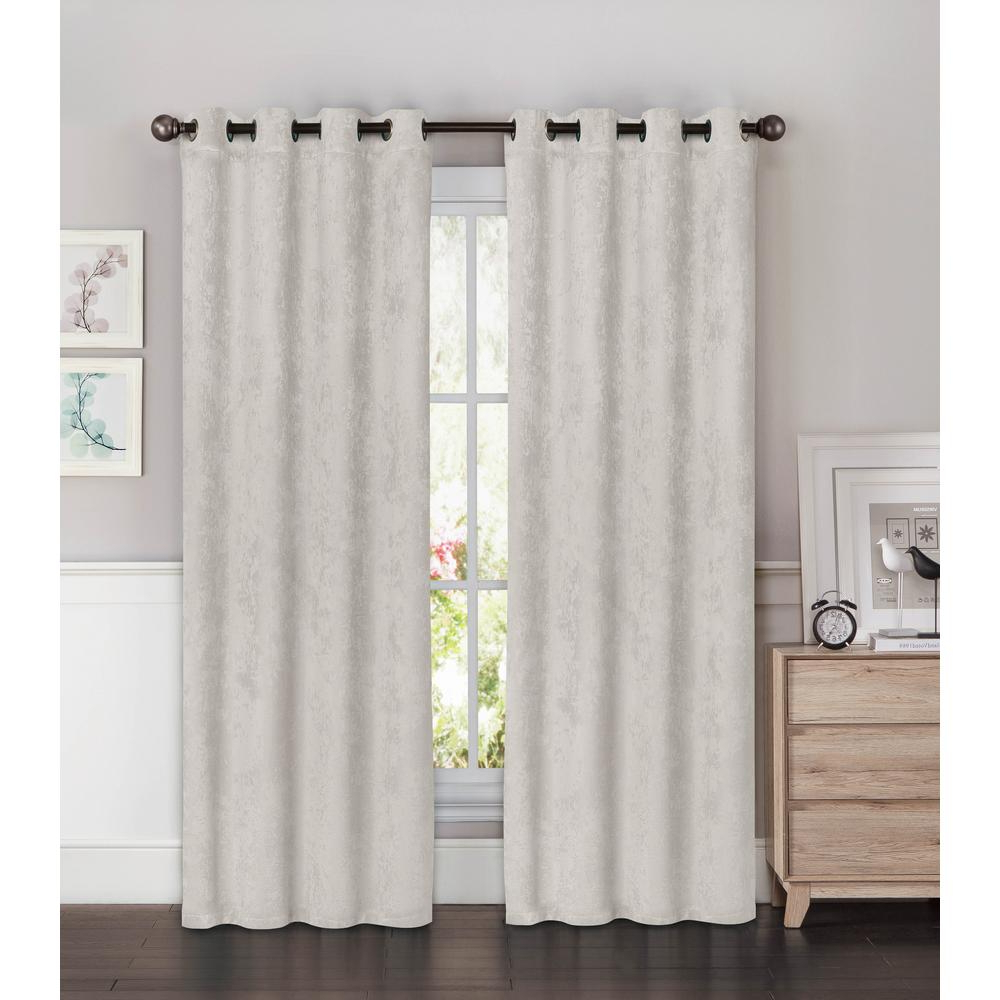 Trendy Insulated Blackout Grommet Window Curtain Panel Pairs With Bella Luna Blackout Faux Suede Extra Wide 96 In (View 7 of 20)