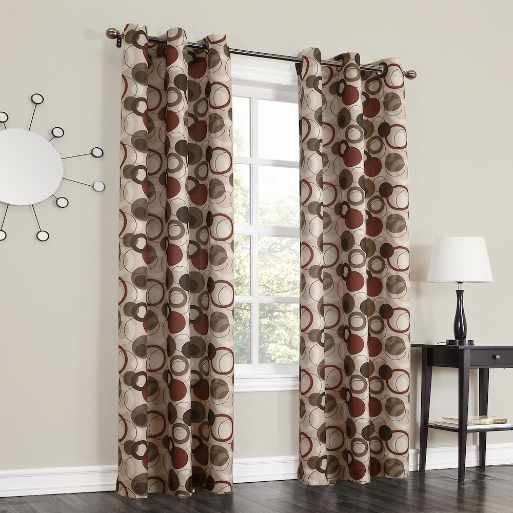 Trendy Intersect Grommet Woven Print Window Curtain Panels For No 918 1 Panel Jenise Window Curtain, Red, 48x63 In (View 10 of 20)