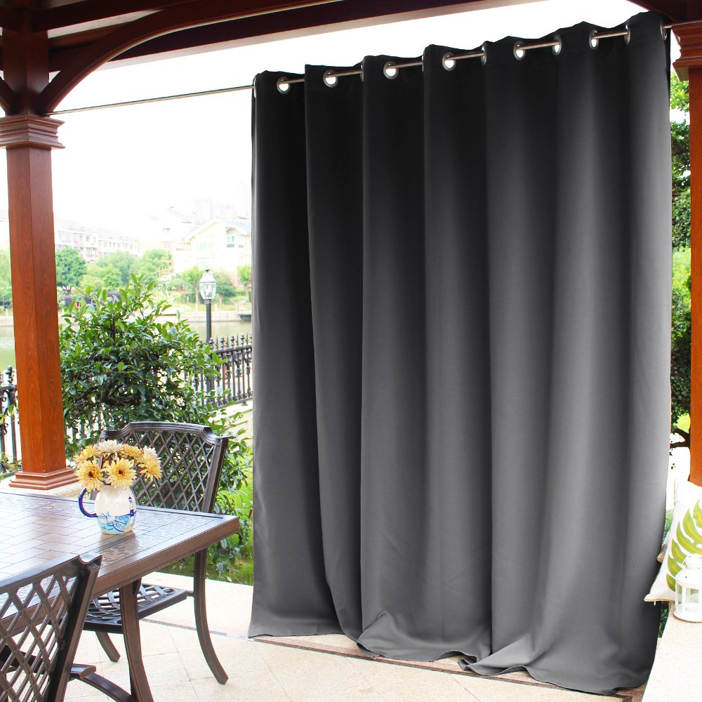 Trendy Nicetown Outdoor Curtain Panel For Patio – Vertical Blinds Thermal Insulated Grommet Extra Wide Blackout Door Curtain/drape For Party/sun Room/terrace With Regard To Davis Patio Grommet Top Single Curtain Panels (View 19 of 20)