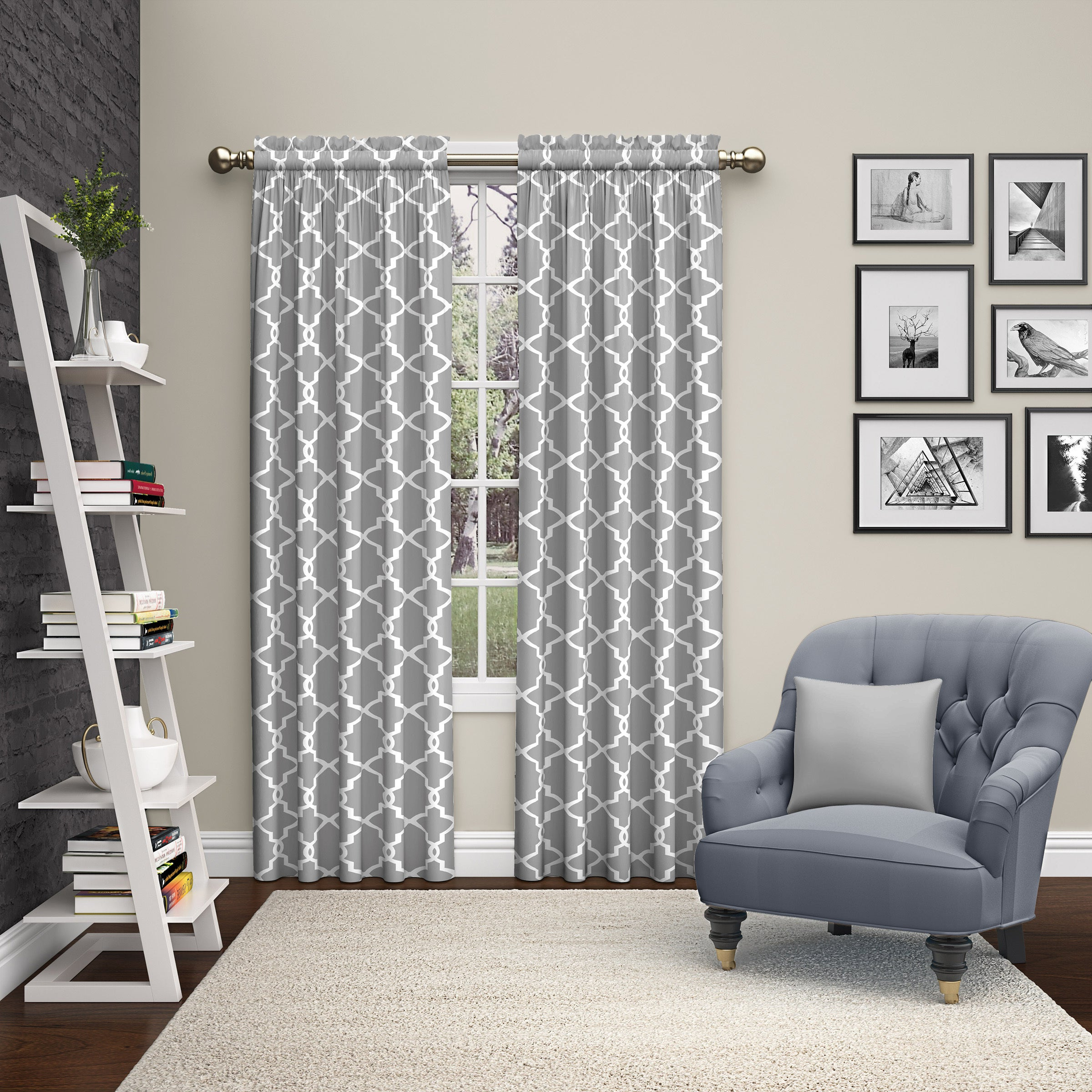Trendy Pairs To Go Vickery Rod Pocket Curtain Panel Pair In Essentials Almaden Fretwork Printed Grommet Top Curtain Panel Pairs (View 15 of 20)