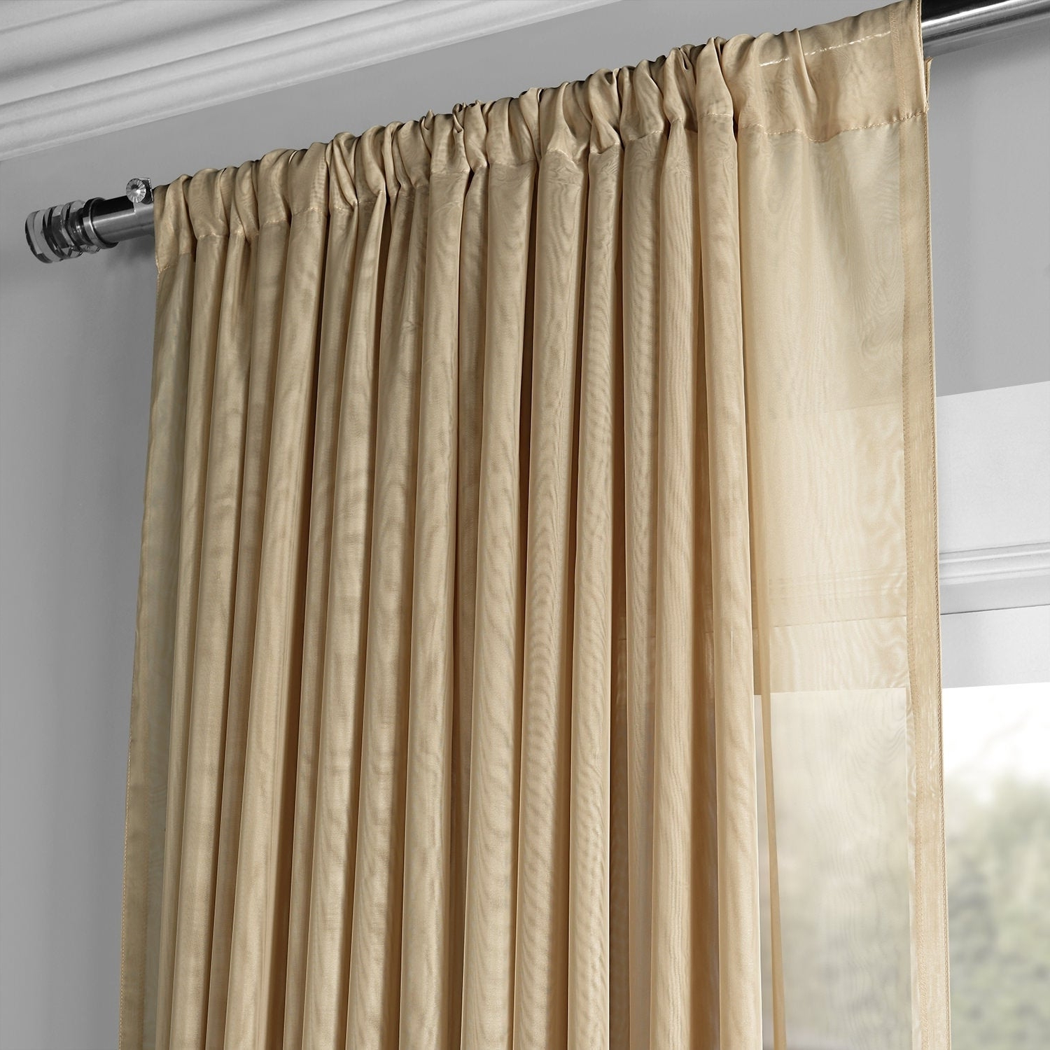 Trendy Signature Extrawide Double Layer Sheer Curtain Panels With Regard To Exclusive Fabrics Signature Extrawide Double Layer Sheer Curtain Panel (View 6 of 20)