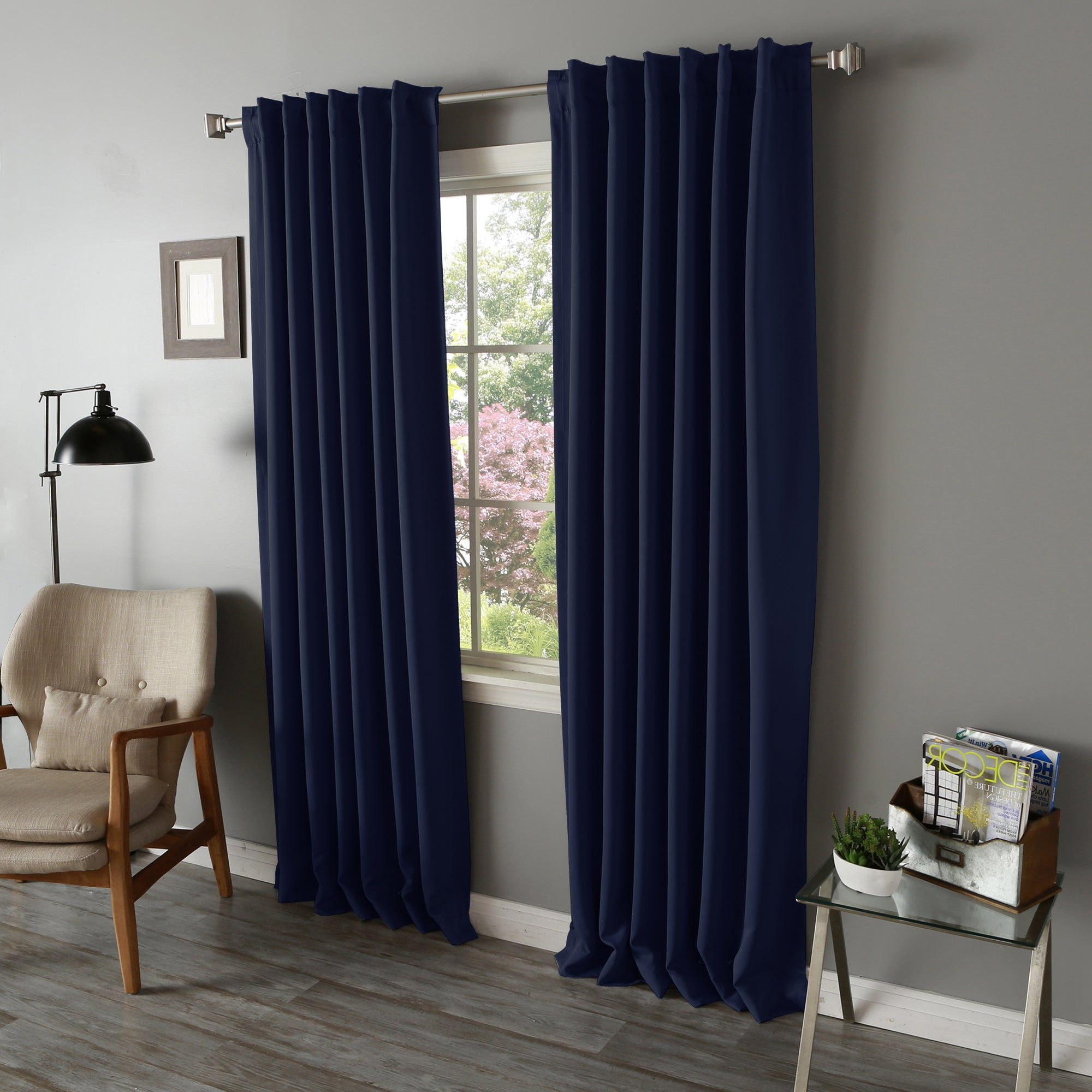 Trendy Solid Insulated Thermal Blackout Long Length Curtain Panel Pairs In Aurora Home Solid Insulated Thermal Blackout Long Length Curtain Panel Pair (View 9 of 20)