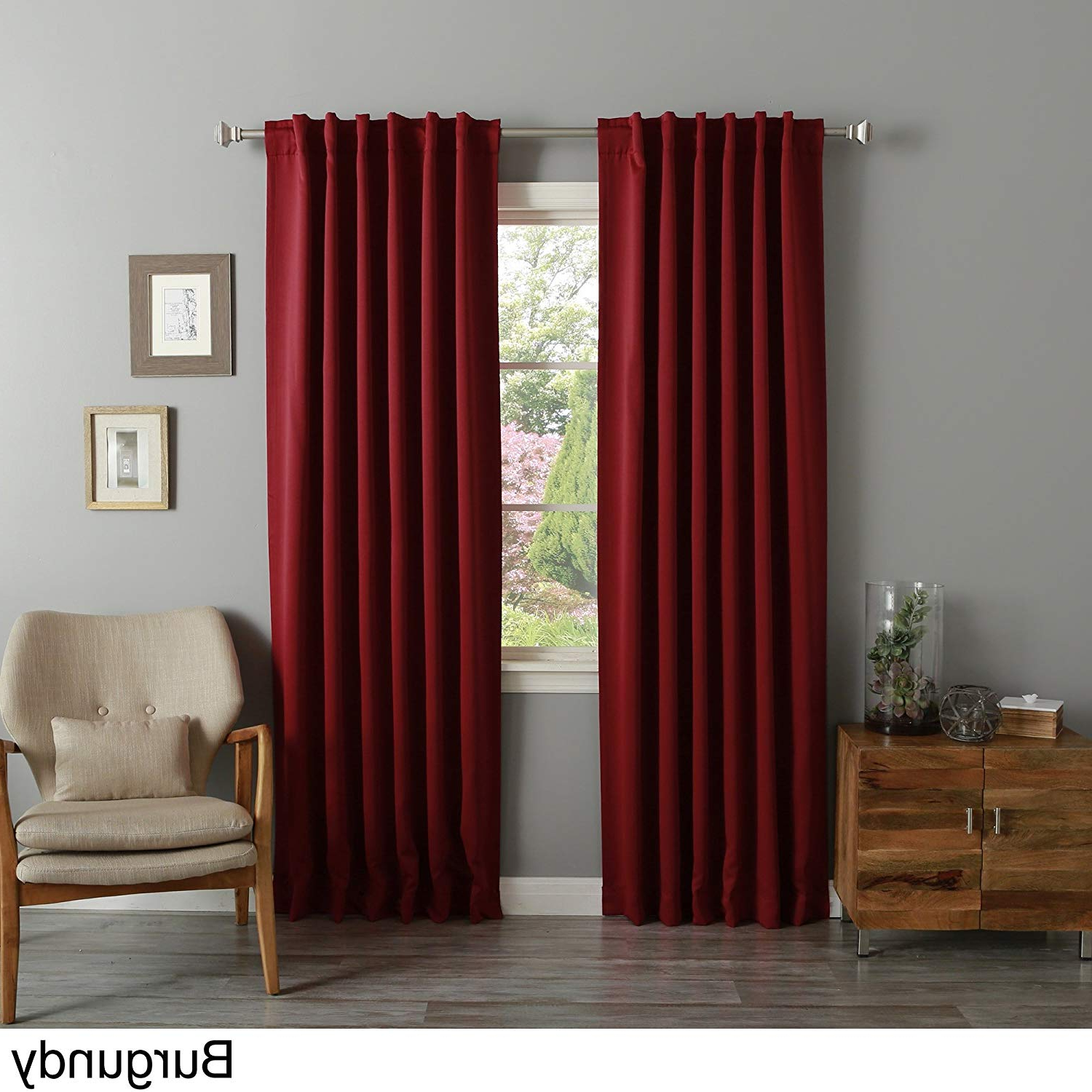Featured Photo of Solid Insulated Thermal Blackout Long Length Curtain Panel Pairs