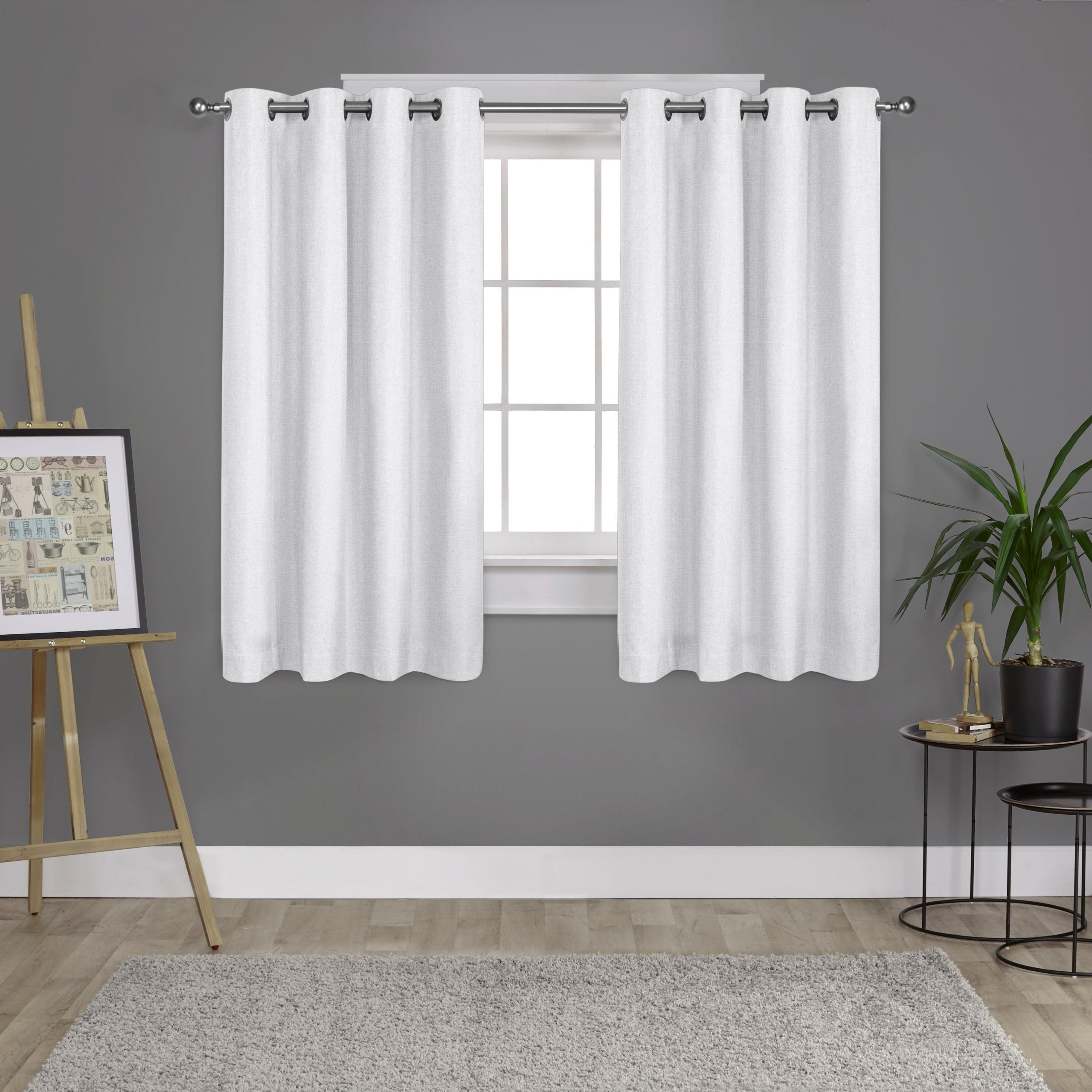 Trendy Sugar Creek Grommet Top Loha Linen Window Curtain Panel Pairs For Porch & Den Sugar Creek Grommet Top Loha Linen Window Curtain Panel Pair In  Winter White (52X63)(As Is Item) (View 18 of 20)
