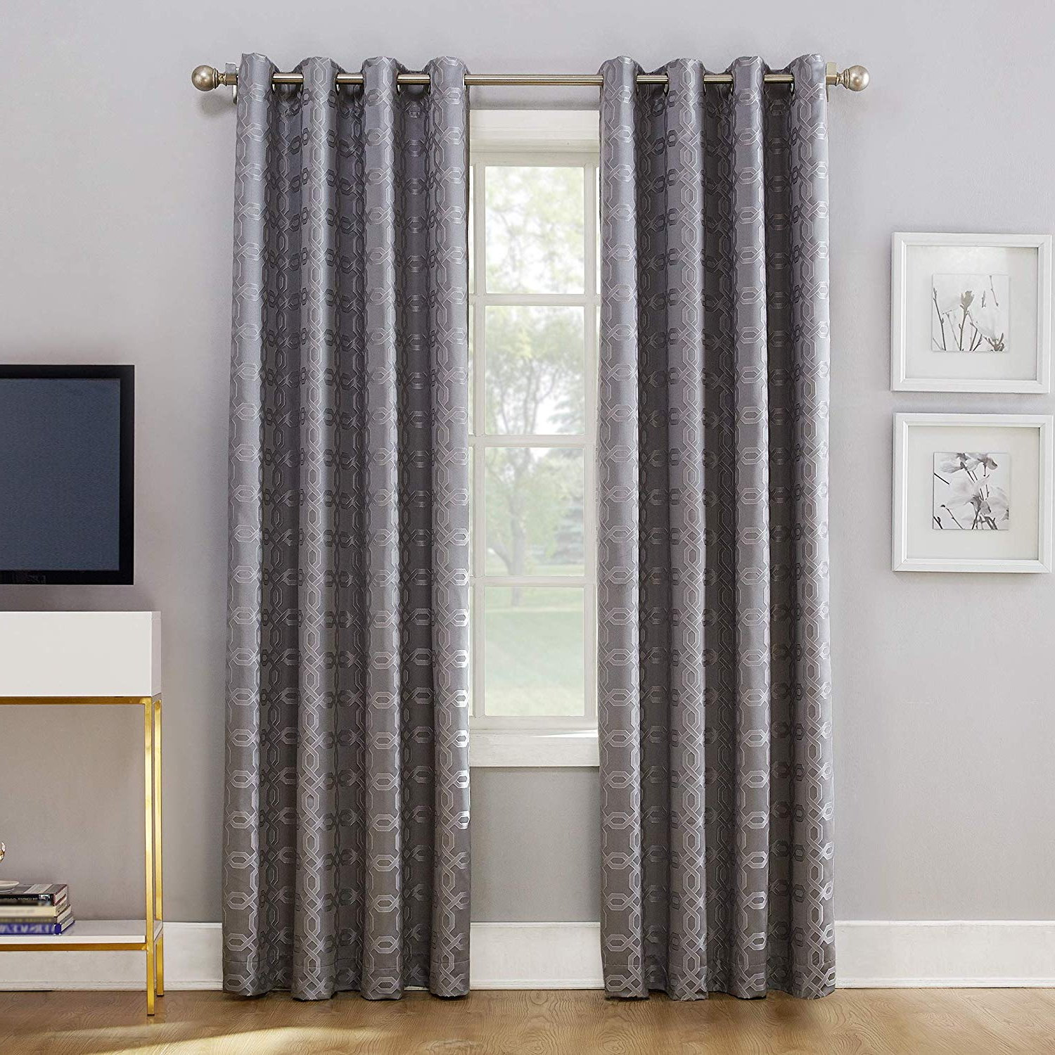 Featured Photo of Lined Grommet Curtain Panels