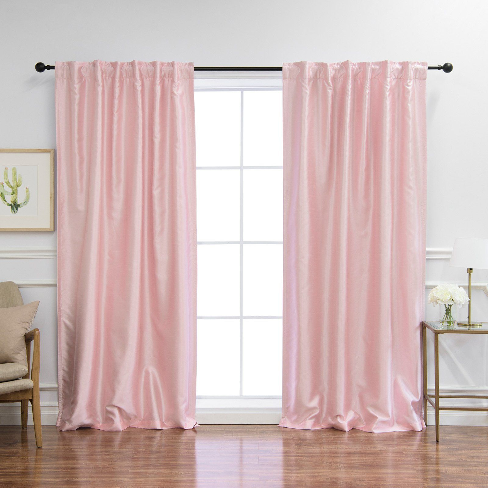 Trendy Thermal Rod Pocket Blackout Curtain Panel Pairs With Regard To Best Home Fashion Faux Silk Blackout Curtain Panel Pair (View 16 of 20)