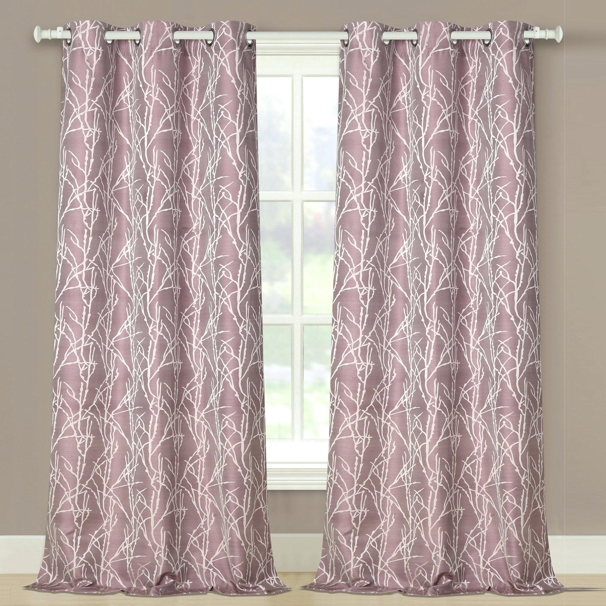 Twig Insulated Blackout Curtain Panel Pairs With Grommet Top For Most Popular Curtain Panel Pairs Thermal – Fxlegends (View 13 of 20)