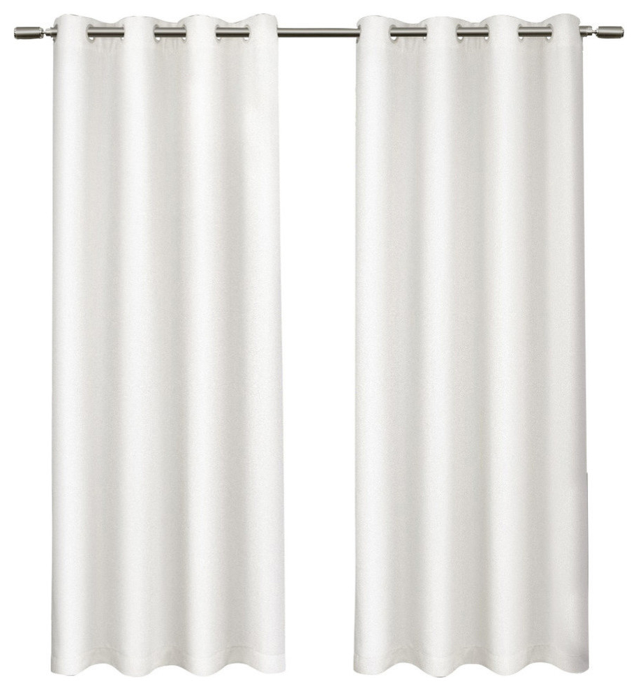 """Twig Insulated Blackout Curtain Panel Pairs With Grommet Top Pertaining To Most Recent Tweed Textured Linen Blackout Grommet Curtain Panel Pair, Winter White, 52""""x 84"""" (View 19 of 20)"""