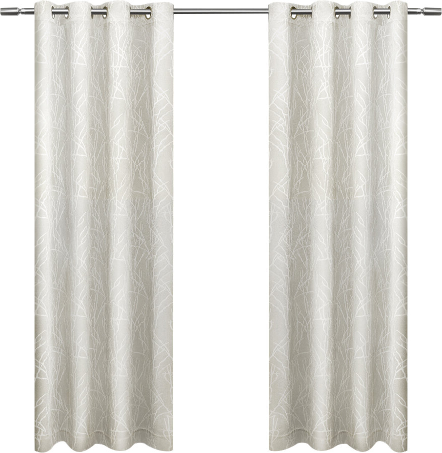 Twig Insulated Blackout Curtain Panel Pairs With Grommet Top With Famous Waut Geometric Blackout Thermal Grommet Curtain Panels (View 16 of 20)