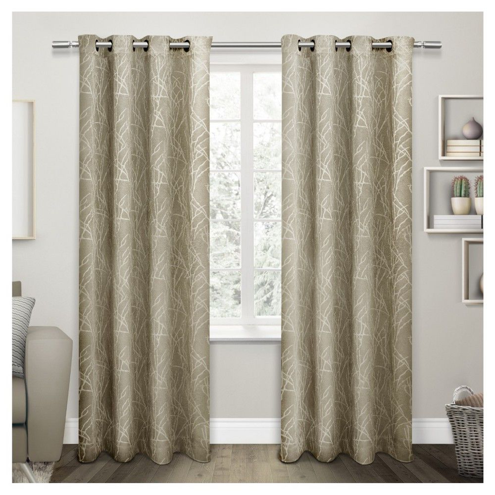 Twig Insulated Woven Blackout Grommet Top Window Curtain In 2020 Twig Insulated Blackout Curtain Panel Pairs With Grommet Top (View 4 of 20)