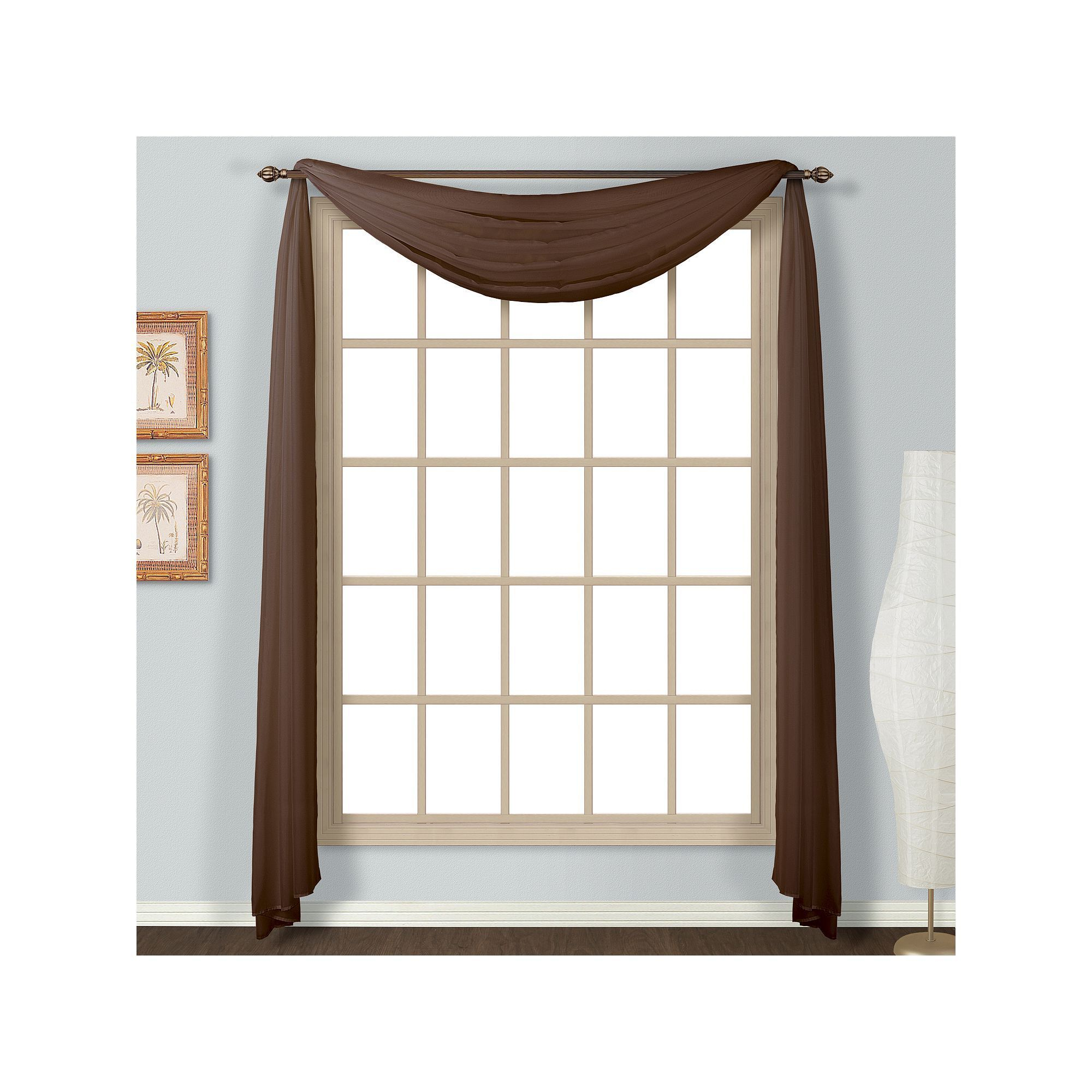 United Curtain Co. Monte Carlo Scarf Window Valance With Regard To Fashionable Luxury Collection Monte Carlo Sheer Curtain Panel Pairs (Gallery 10 of 20)