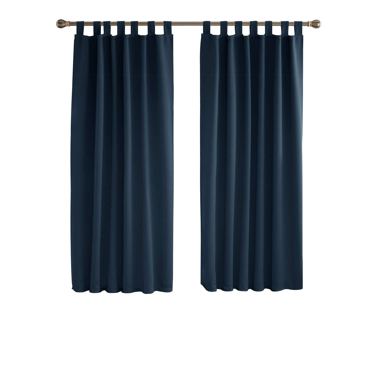 Urgent Tab Top Curtains Deconovo Soft Solid Thermal Regarding Most Up To Date Solid Thermal Insulated Blackout Curtain Panel Pairs (View 17 of 20)