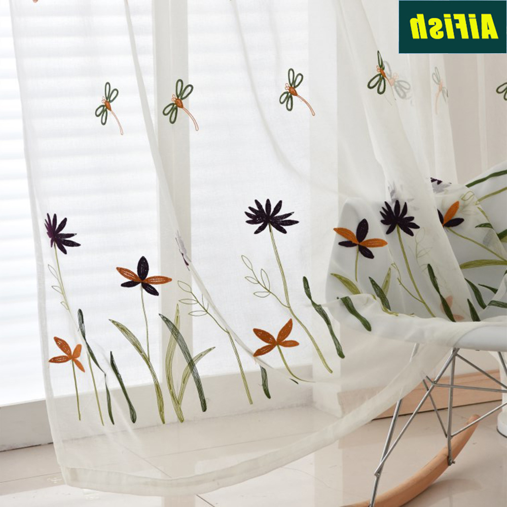 [%us $6.36 33% Off|dragonfly Embroidered White Sheer Voile Curtains For Kids Room Bedroom Line Look Window Tulle Fabric Ready Made Drapery Tm0203 In Throughout Current Kida Embroidered Sheer Curtain Panels|kida Embroidered Sheer Curtain Panels Within Newest Us $6.36 33% Off|dragonfly Embroidered White Sheer Voile Curtains For Kids Room Bedroom Line Look Window Tulle Fabric Ready Made Drapery Tm0203 In|famous Kida Embroidered Sheer Curtain Panels With Us $6.36 33% Off|dragonfly Embroidered White Sheer Voile Curtains For Kids Room Bedroom Line Look Window Tulle Fabric Ready Made Drapery Tm0203 In|trendy Us $ (View 19 of 20)