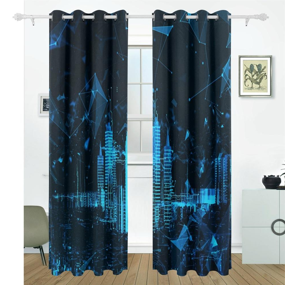 [%Us $82.93 31% Off|Abstract Futuristic City 3D Curtains Drapes Panels  Darkening Blackout Grommet Room Divider For Patio Window Sliding Glass  Door In In Famous Abstract Blackout Curtain Panel Pairs|Abstract Blackout Curtain Panel Pairs Intended For Well Liked Us $82.93 31% Off|Abstract Futuristic City 3D Curtains Drapes Panels  Darkening Blackout Grommet Room Divider For Patio Window Sliding Glass  Door In|Newest Abstract Blackout Curtain Panel Pairs Regarding Us $82.93 31% Off|Abstract Futuristic City 3D Curtains Drapes Panels  Darkening Blackout Grommet Room Divider For Patio Window Sliding Glass  Door In|Latest Us $ (View 1 of 20)
