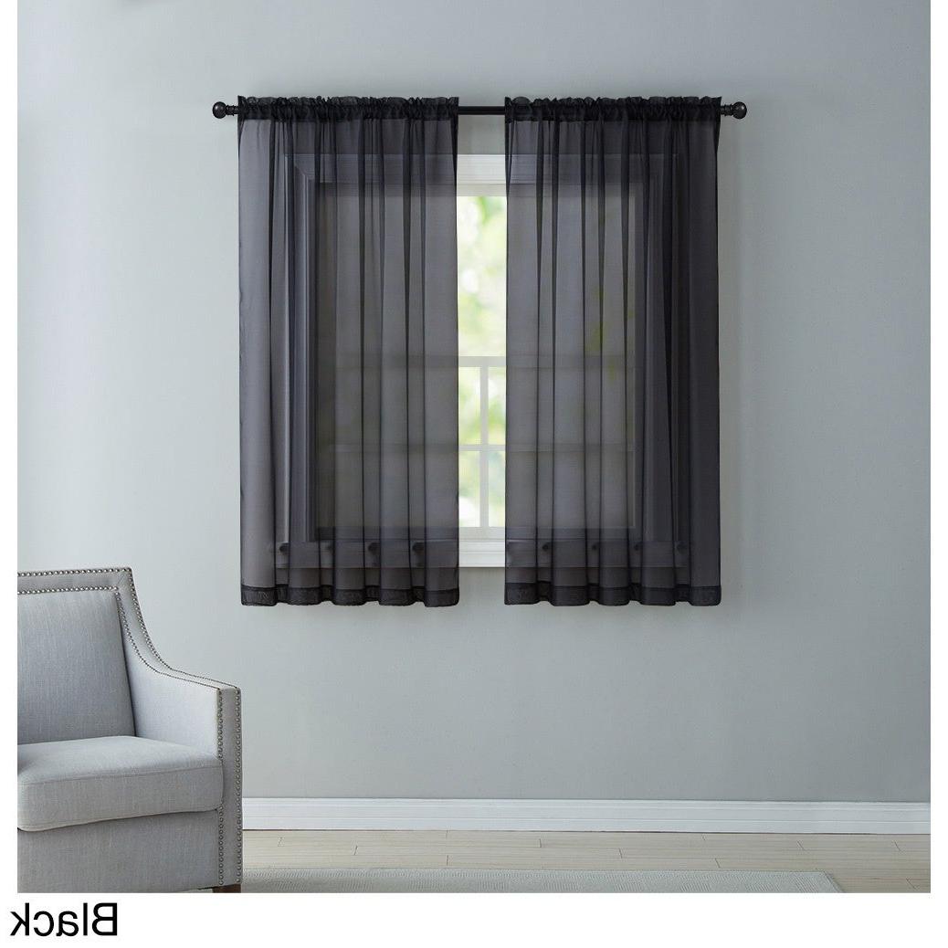 Vcny Infinity Sheer Rod Pocket Curtain Panel For 2021 Infinity Sheer Rod Pocket Curtain Panels (View 5 of 20)