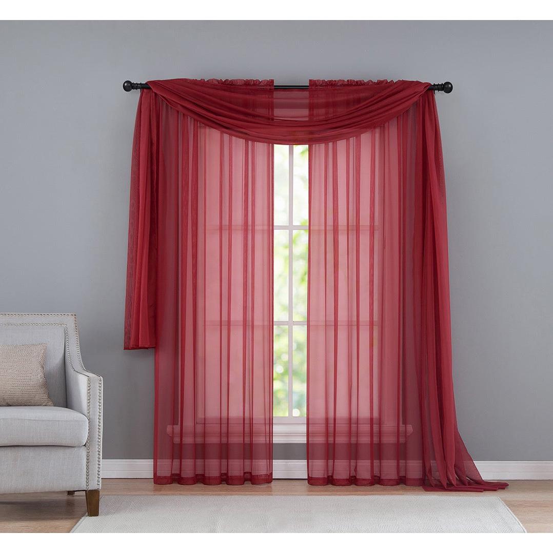 Vcny Infinity Sheer Rod Pocket Curtain Panel Intended For Best And Newest Infinity Sheer Rod Pocket Curtain Panels (View 12 of 20)