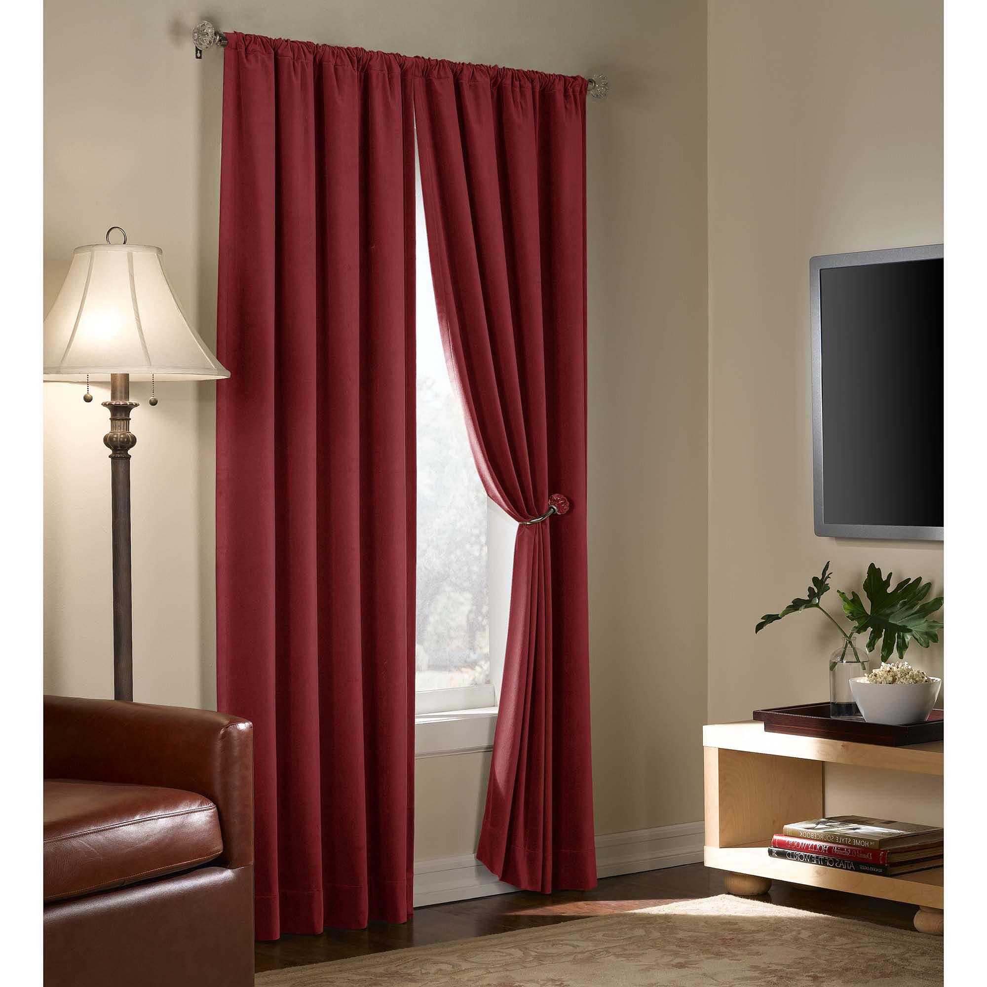 Velvet Blackout Energy Efficient Curtain Panel – Walmart In Favorite Warm Black Velvet Single Blackout Curtain Panels (View 17 of 20)