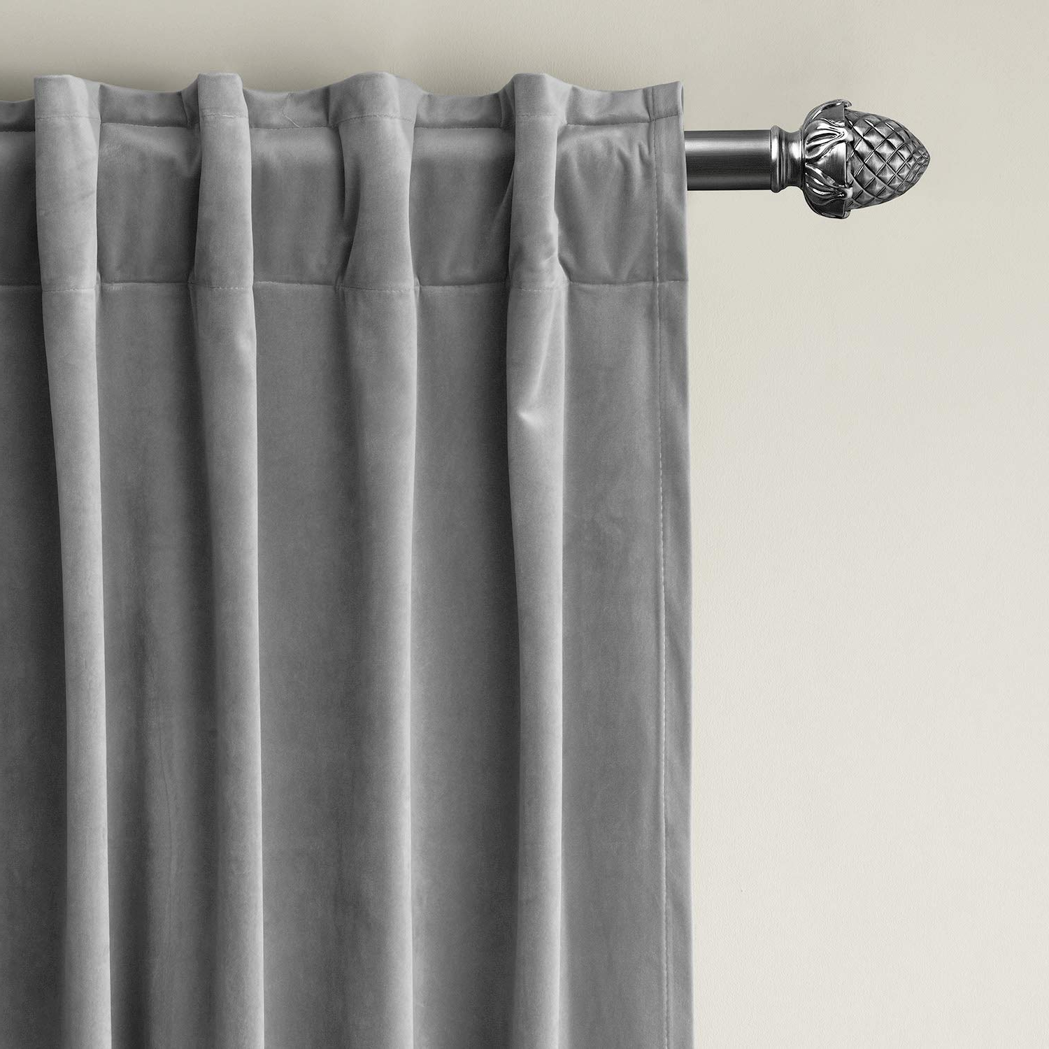 Velvet Dream Silver Curtain Panel Pairs Intended For 2021 Chadmade Set Of 2 Solid Matt Velvet Curtain Panel Drapes Back Tab/rod Pocket Grey 50w X 96l Inch Each, Birkin Collection (View 9 of 20)