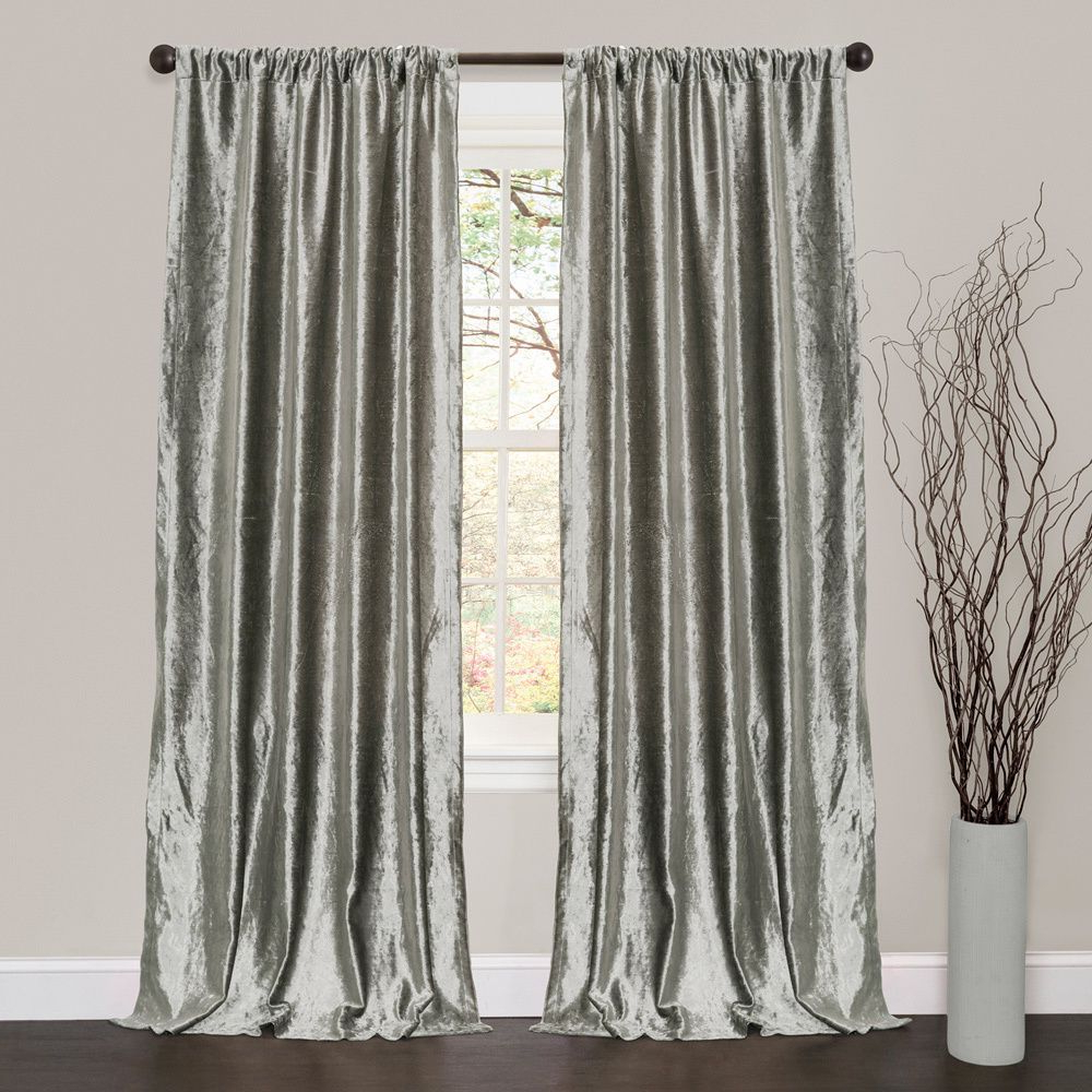 Featured Photo of Velvet Dream Silver Curtain Panel Pairs