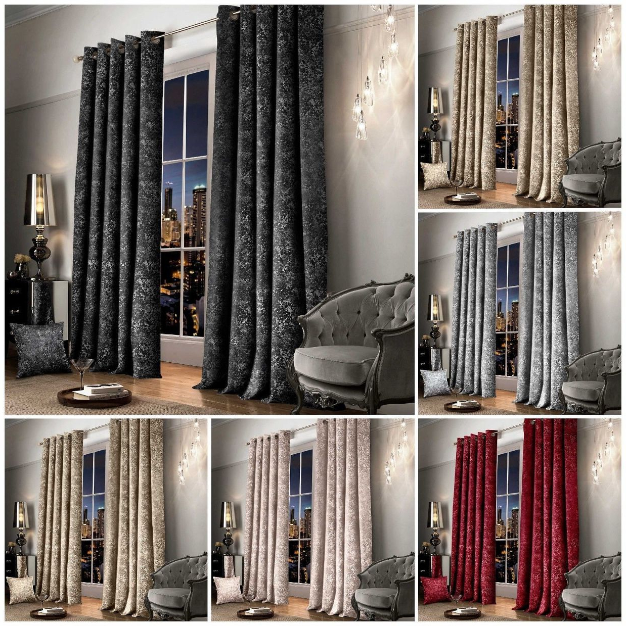 Velvet Dream Silver Curtain Panel Pairs Within Widely Used Crushed Velvet Curtains (View 16 of 20)