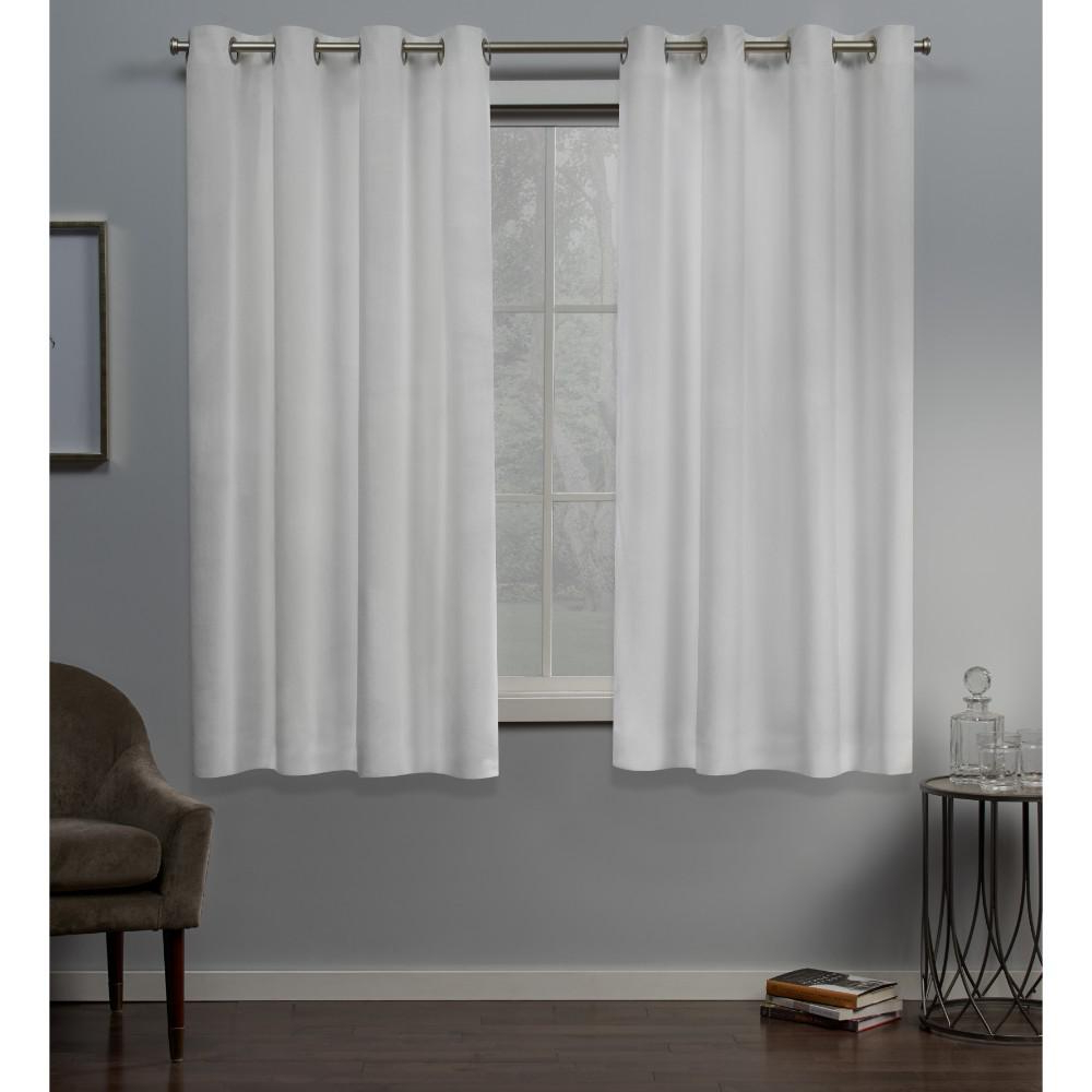 Velvet Heavyweight Grommet Top Curtain Panel Pairs For Most Up To Date Exclusive Home Curtains Velvet 54 In. W X 63 In (View 7 of 20)