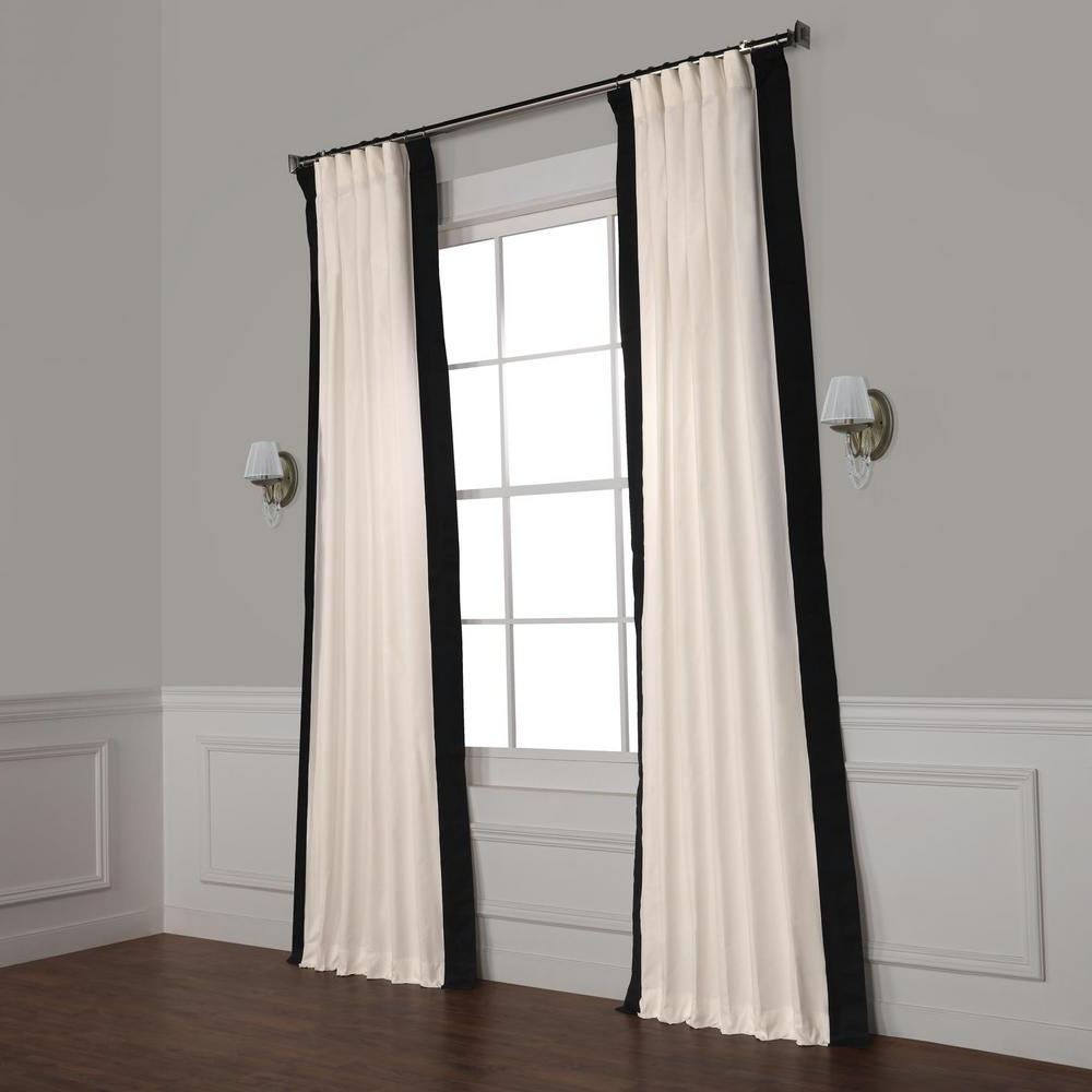 Vertical Colorblock Panama Curtains In 2020 Exclusive Fabrics & Furnishings Fresh Popcorn And Black Room Darkening Vertical Colorblock Curtain – 50 In. W X 120 In (View 12 of 20)