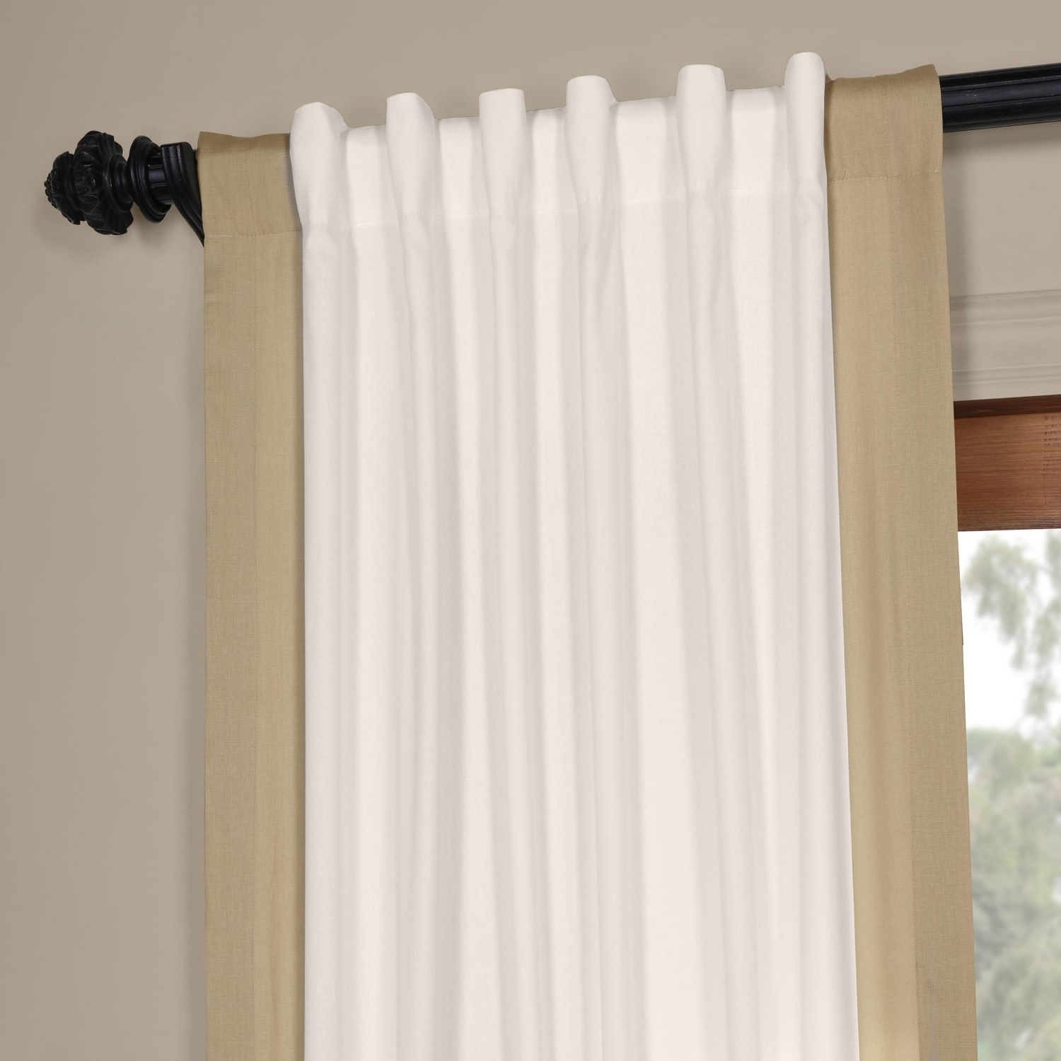 Vertical Colorblock Panama Curtains Inside Current Exclusive Fabrics Vertical Colorblock Panama Curtain (View 6 of 20)
