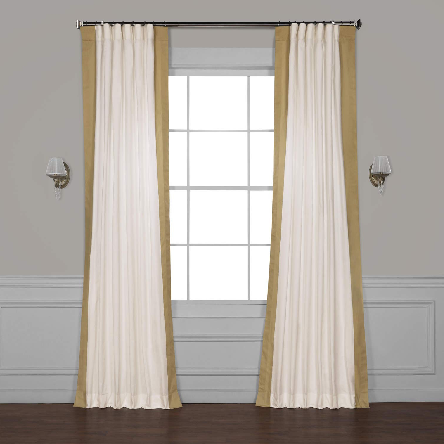Vertical Colorblock Panama Curtains With Regard To Trendy Half Price Drapes Prct Vc1715 96 Vertical Colorblock Panama Curtain, Fresh Popcorn & Shaker Beige, 50 X (View 15 of 20)