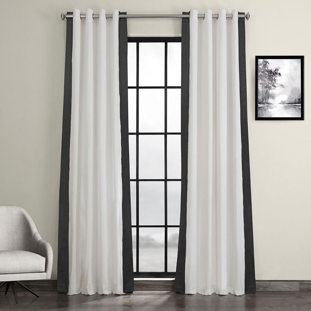 Vertical Colorblock Panama Curtains Within Trendy Exclusive Fabrics & Furnishings Fresh Popcorn And Millstone Gray Room Darkening Grommet Vertical Colorblock Curtain – 50 In. W X 96 In (View 13 of 20)