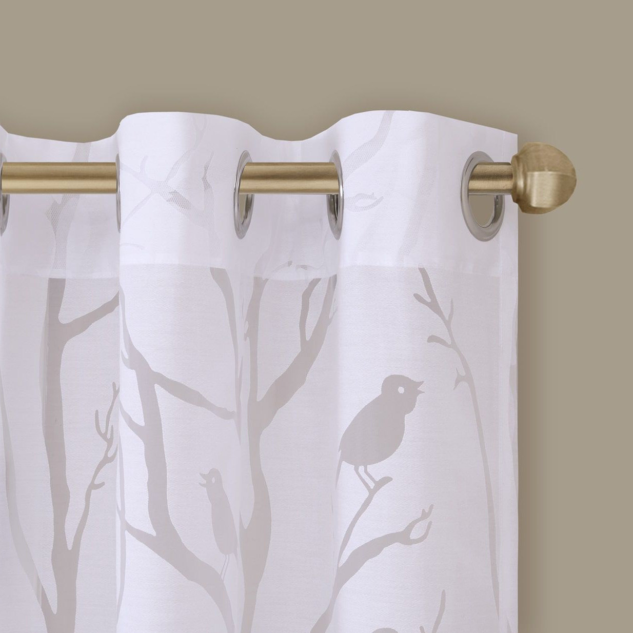 Vina Sheer Bird Single Curtain Panels Intended For Popular Madison Park Vina Sheer Bird Curtain Panel (View 5 of 20)