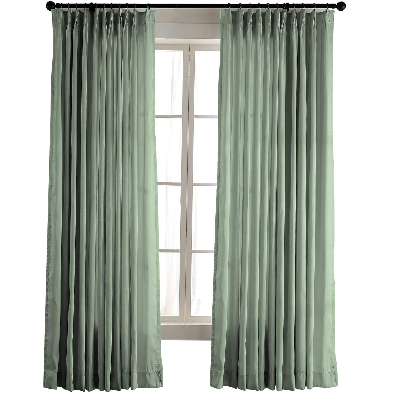 """Vintage Textured Faux Dupioni Silk Curtain Panels In Latest Chadmade Vintage Textured Faux Dupioni Silk Drape Curtain Panel Pinch Pleated 72"""" W X 72"""" L With White Blackout Lined, Green (View 8 of 20)"""